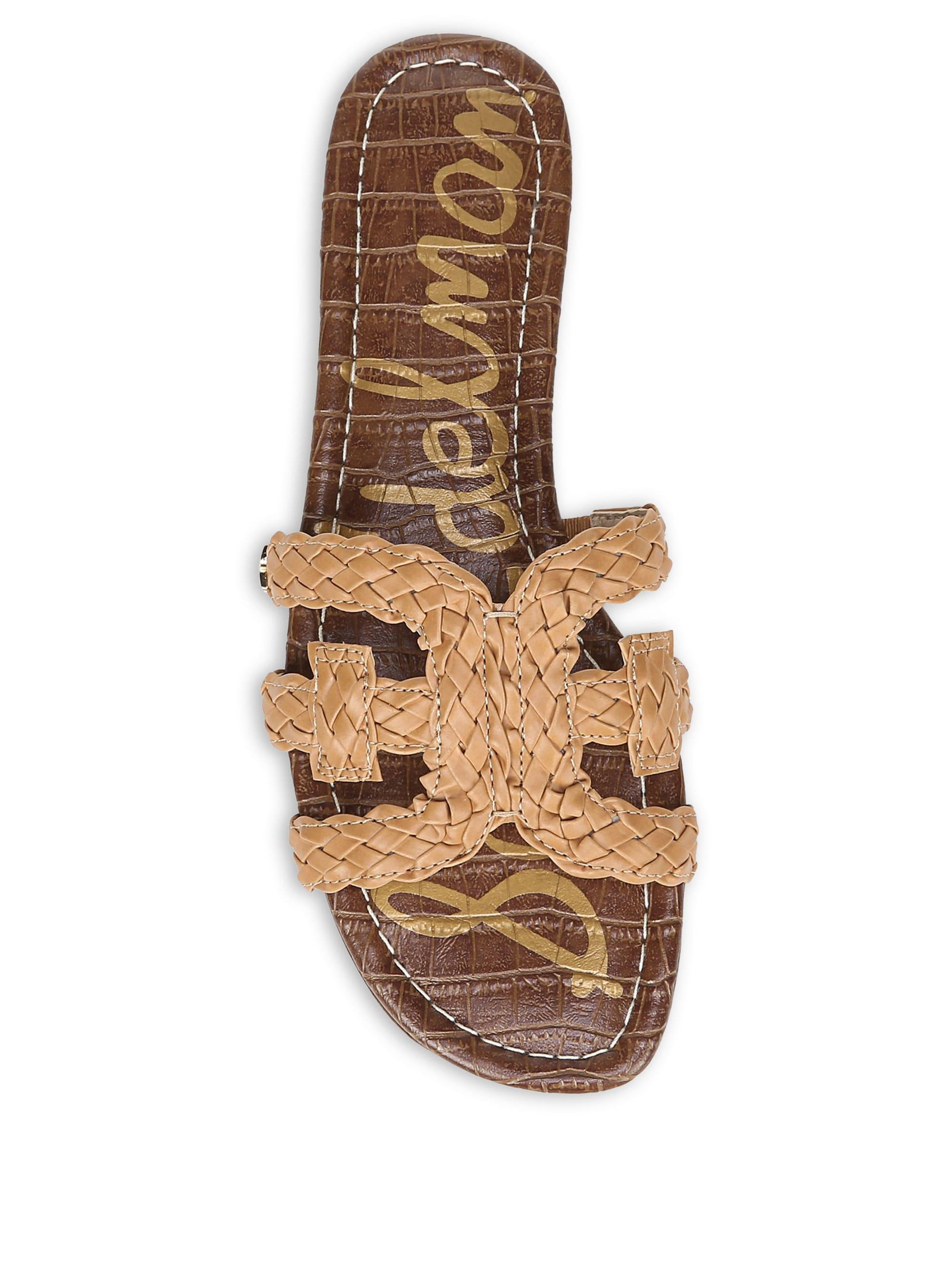 6a195ddae7a4c8 Lyst - Sam Edelman Beckie Woven Leather Sandals