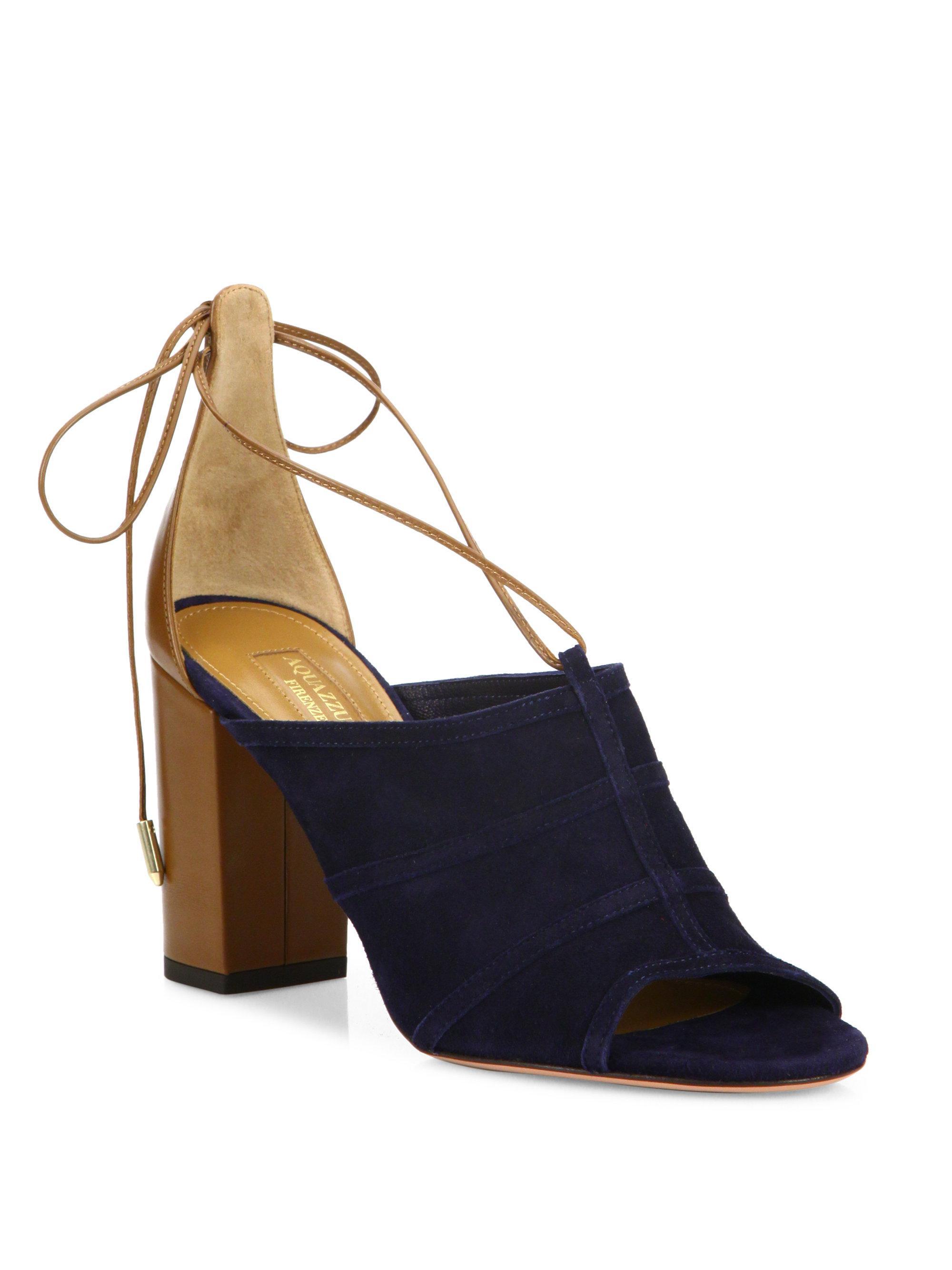 Aquazzura Very Eugenie Chunky Heel Leather Sandals YRwY6
