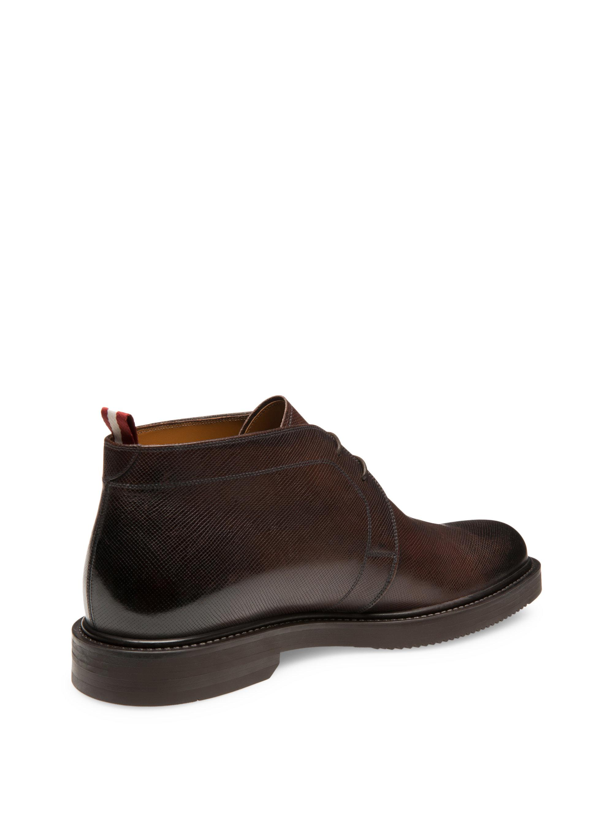 Bally Vilmar Leather Chukka Boots In Brown For Men Lyst