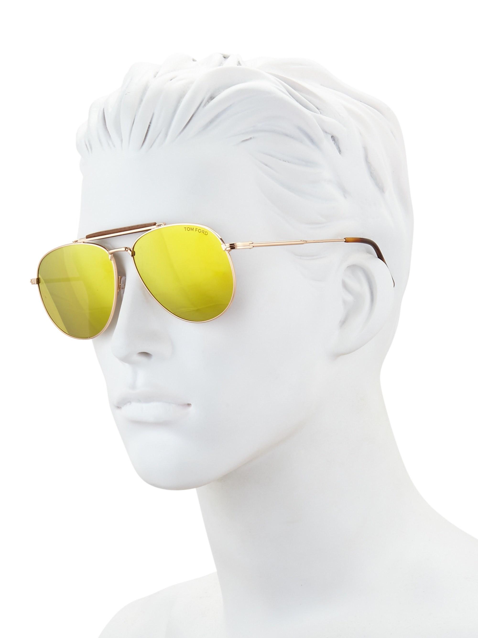 1a33cef475964 Tom Ford - Metallic Sean 60mm Mirrored Aviator Sunglasses for Men - Lyst.  View fullscreen