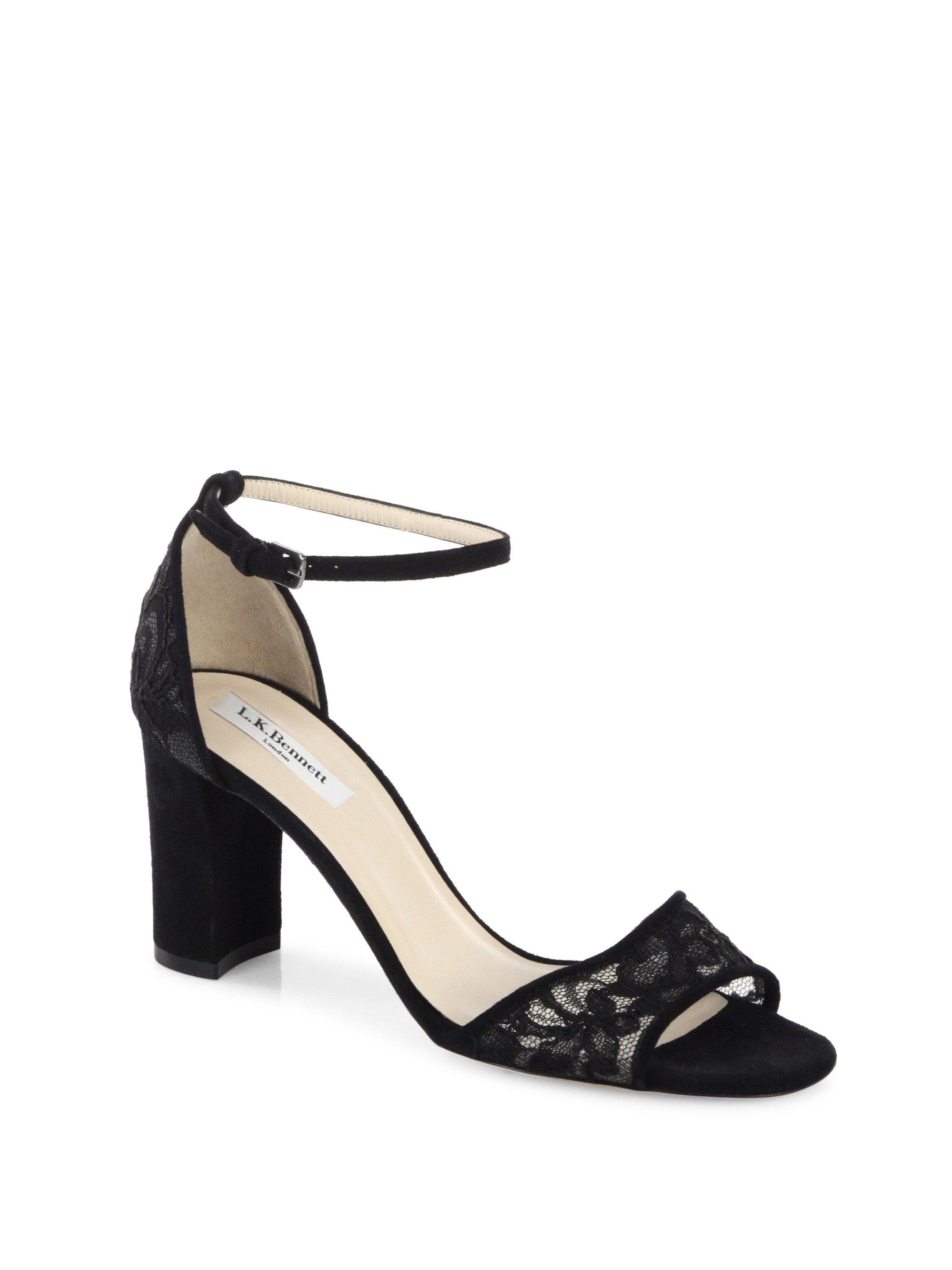 L.K. Bennett Helena Suede Ankle Strap Sandals q0rmtdf