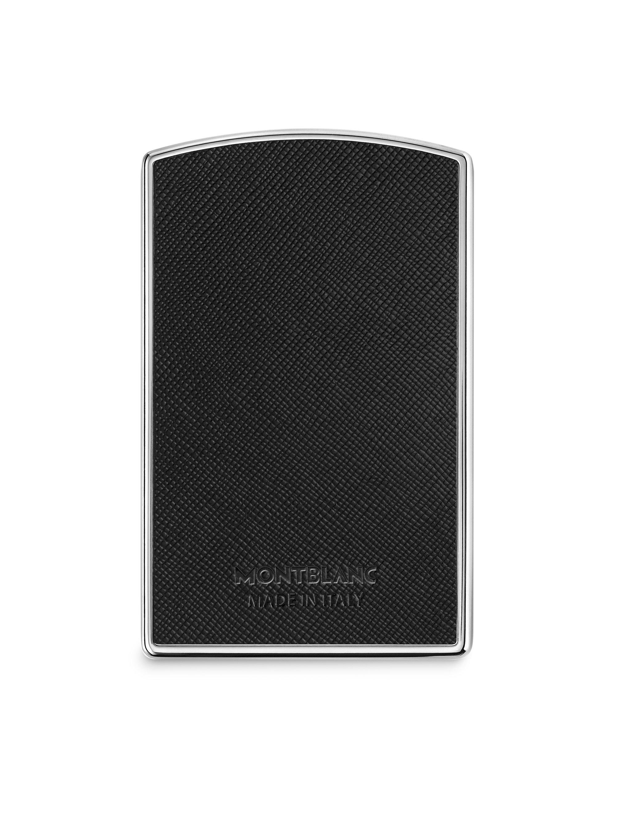 Montblanc hard shell business card holder in black for men lyst gallery reheart Images