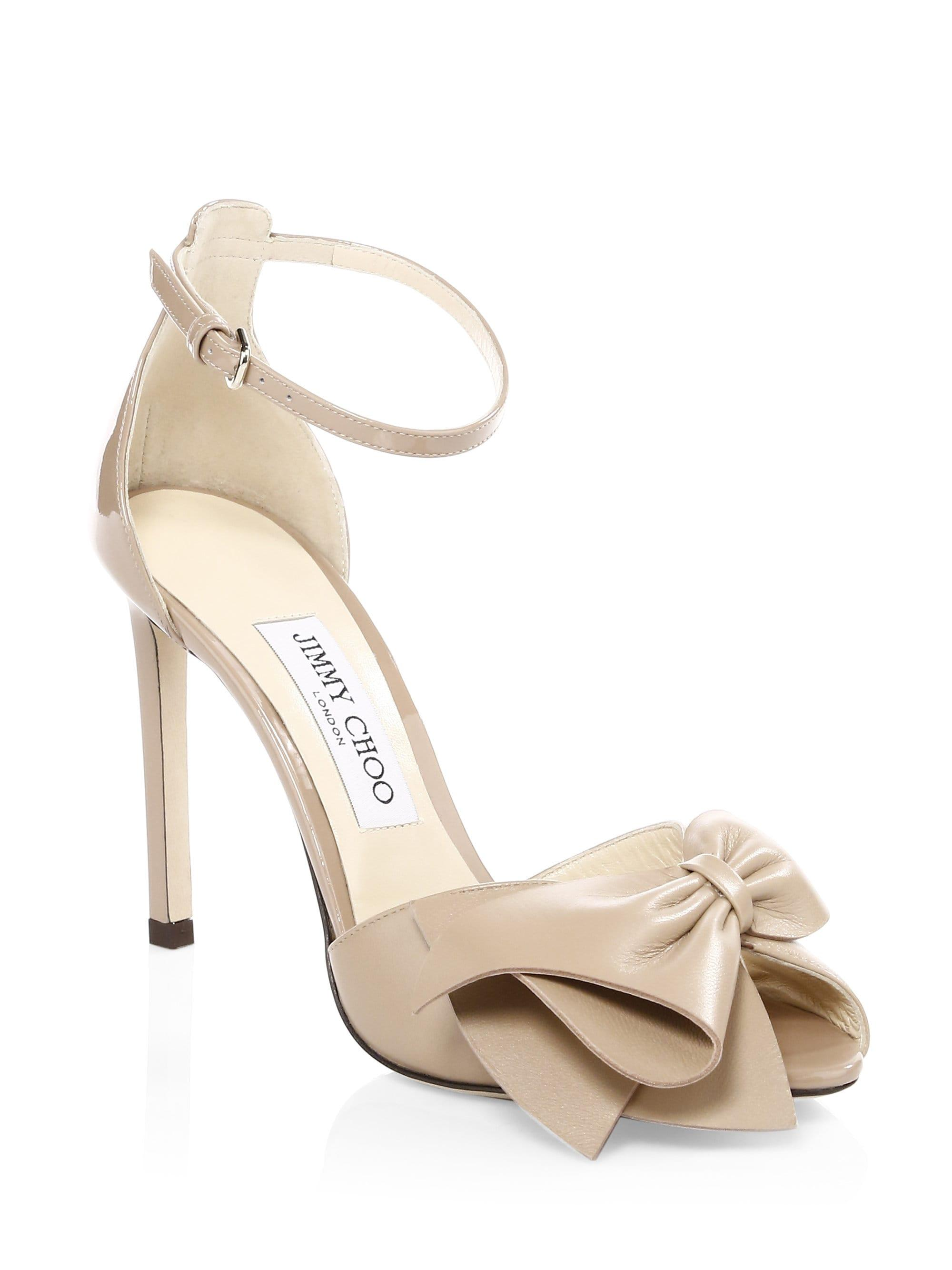 05da026c30 Jimmy Choo Women's Karlotta Peep Toe Heels - Black - Lyst