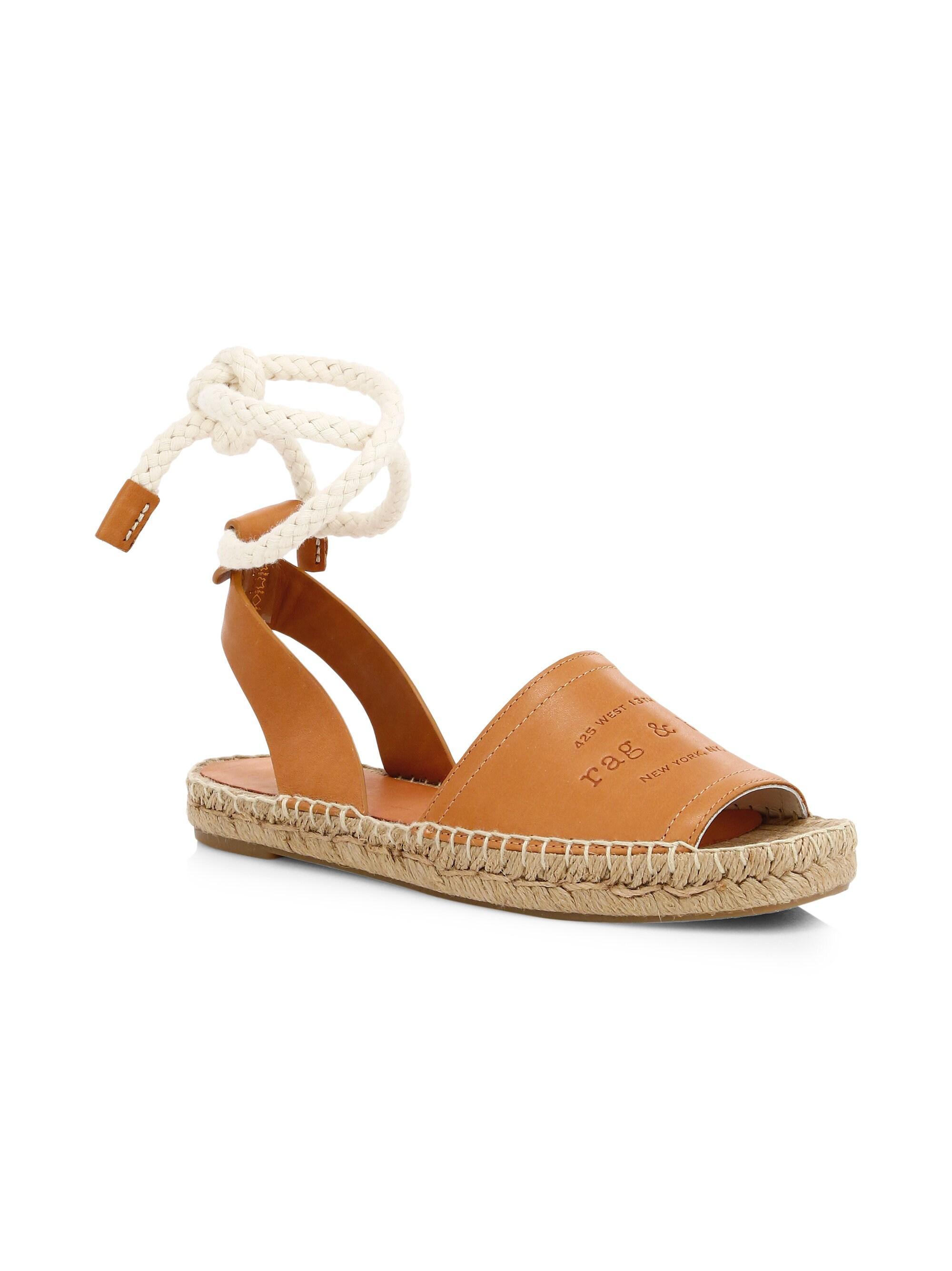 2075c375b5c Rag & Bone Women's Estelle Leather Espadrille Slingback Sandals ...