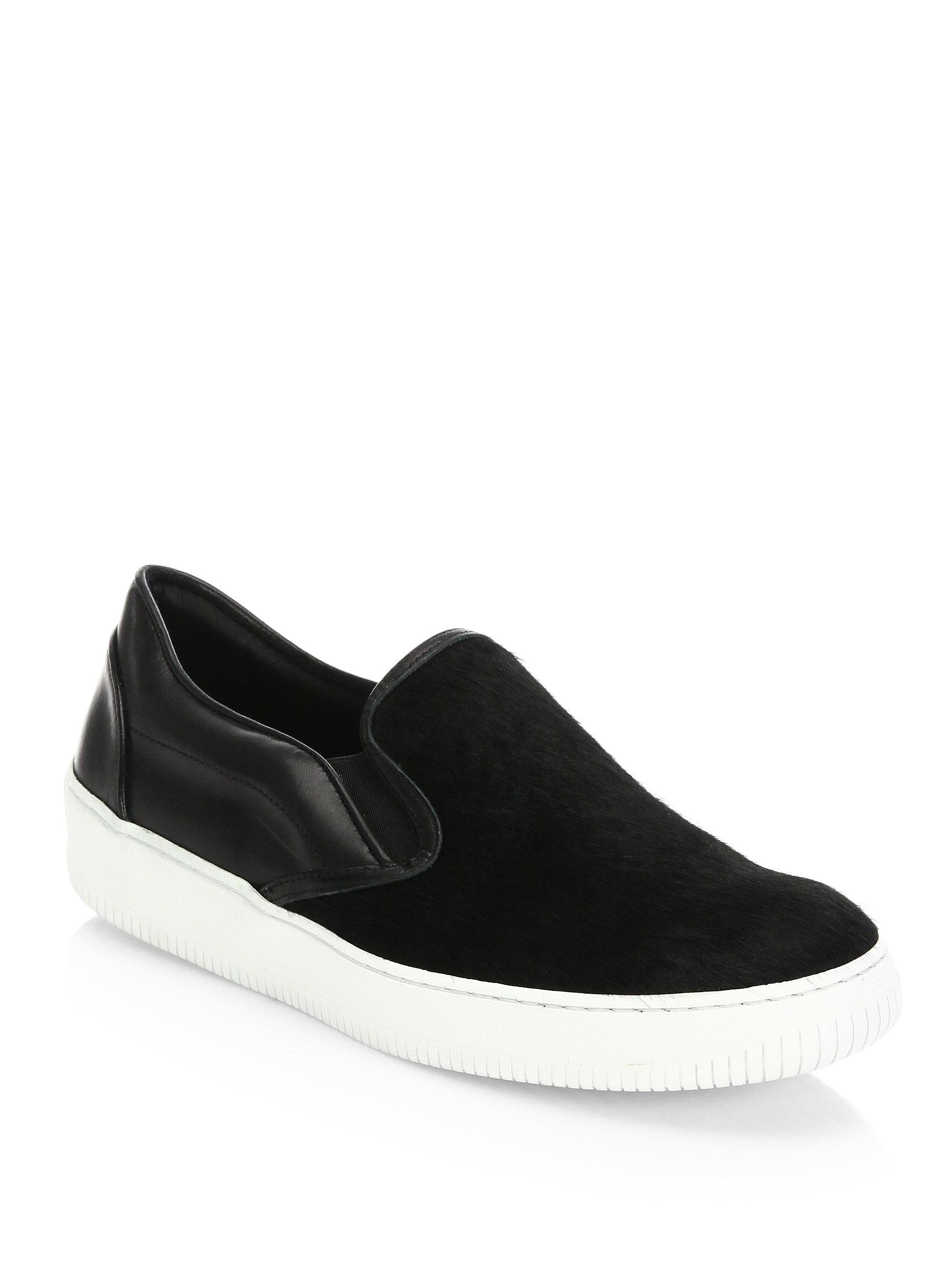 Saks Fifth Avenue COLLECTION Leather Slip-On Sneakers aO22tGv