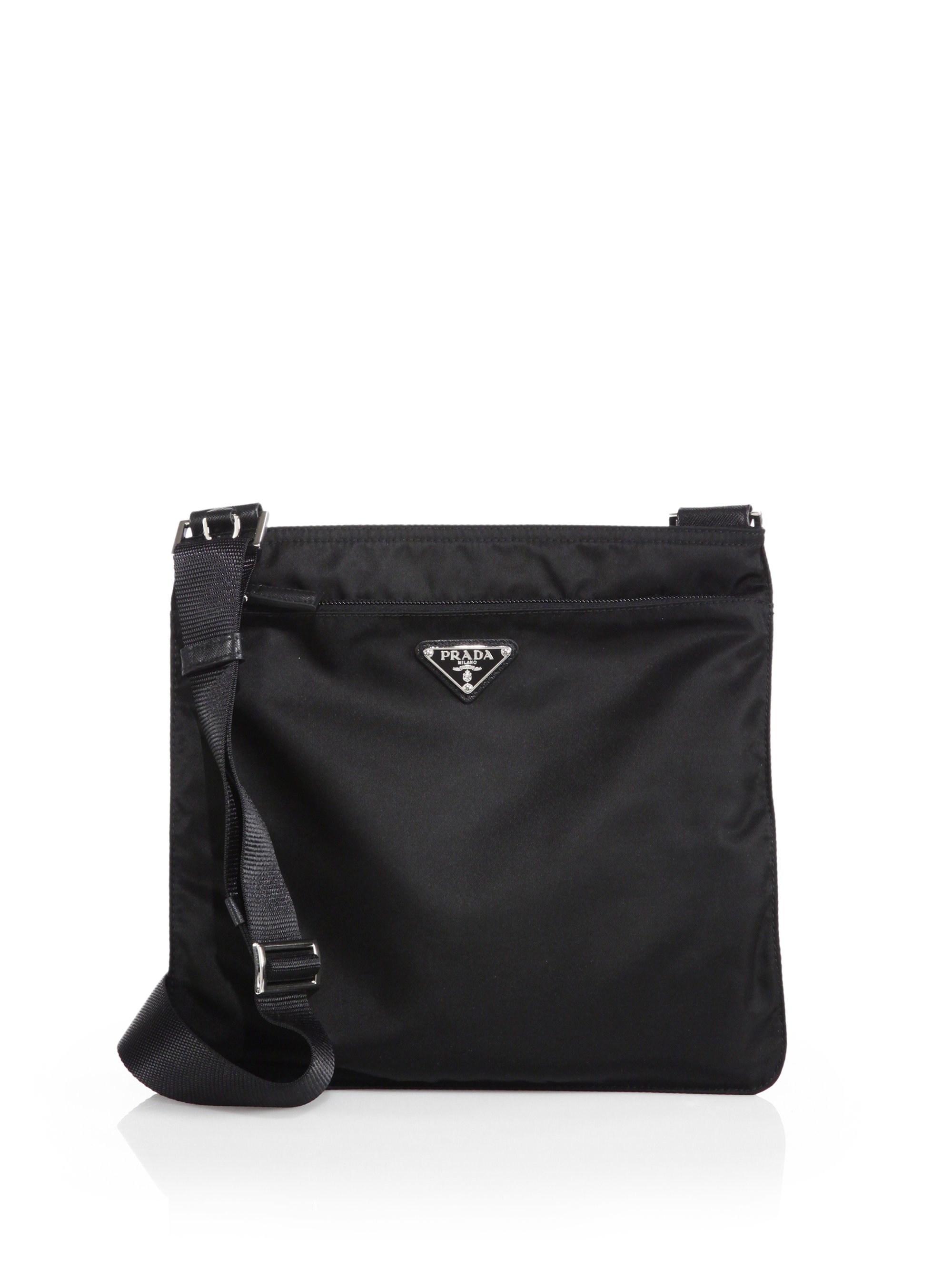 a210c38c308f Prada - Women's Small Nylon Crossbody Bag - Black - Lyst. View fullscreen