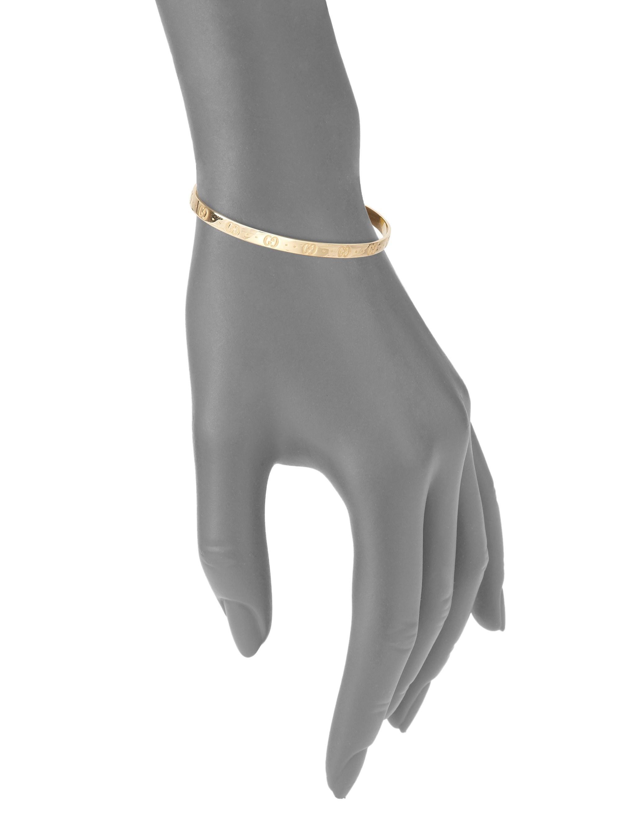 e936fa41856 Gucci - Metallic Women s Icon 18k Yellow Gold Bangle Bracelet - Gold -  Lyst. View fullscreen
