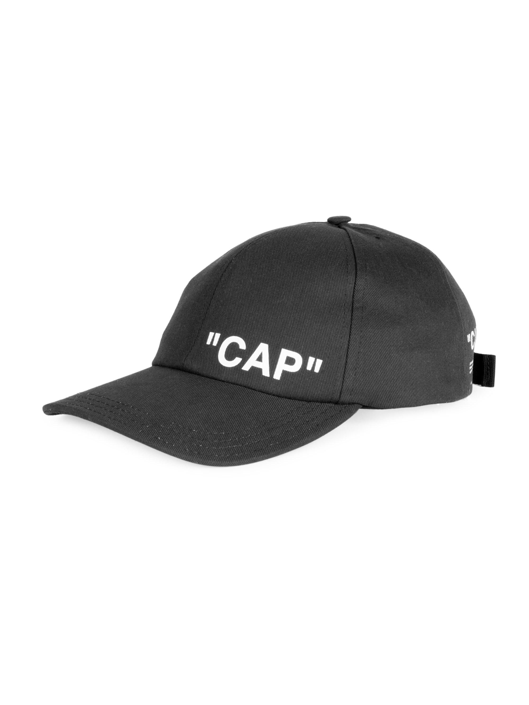 dc8ce6c7519 Off-White c o Virgil Abloh Quote Cotton Baseball Cap in Black for ...