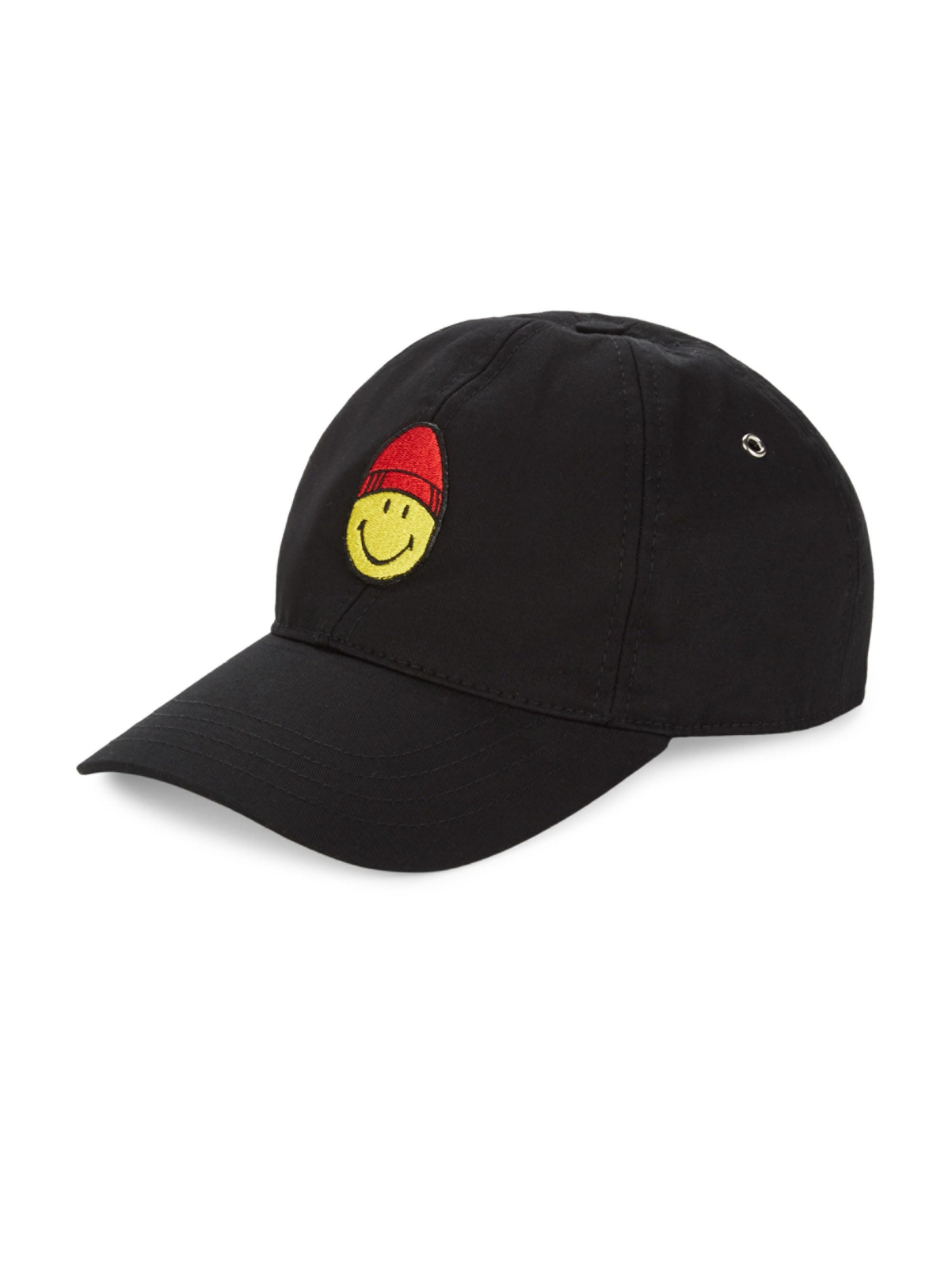 afd948658ca Lyst - AMI Black Smiley Edition Patch Cap in Black for Men - Save 24%