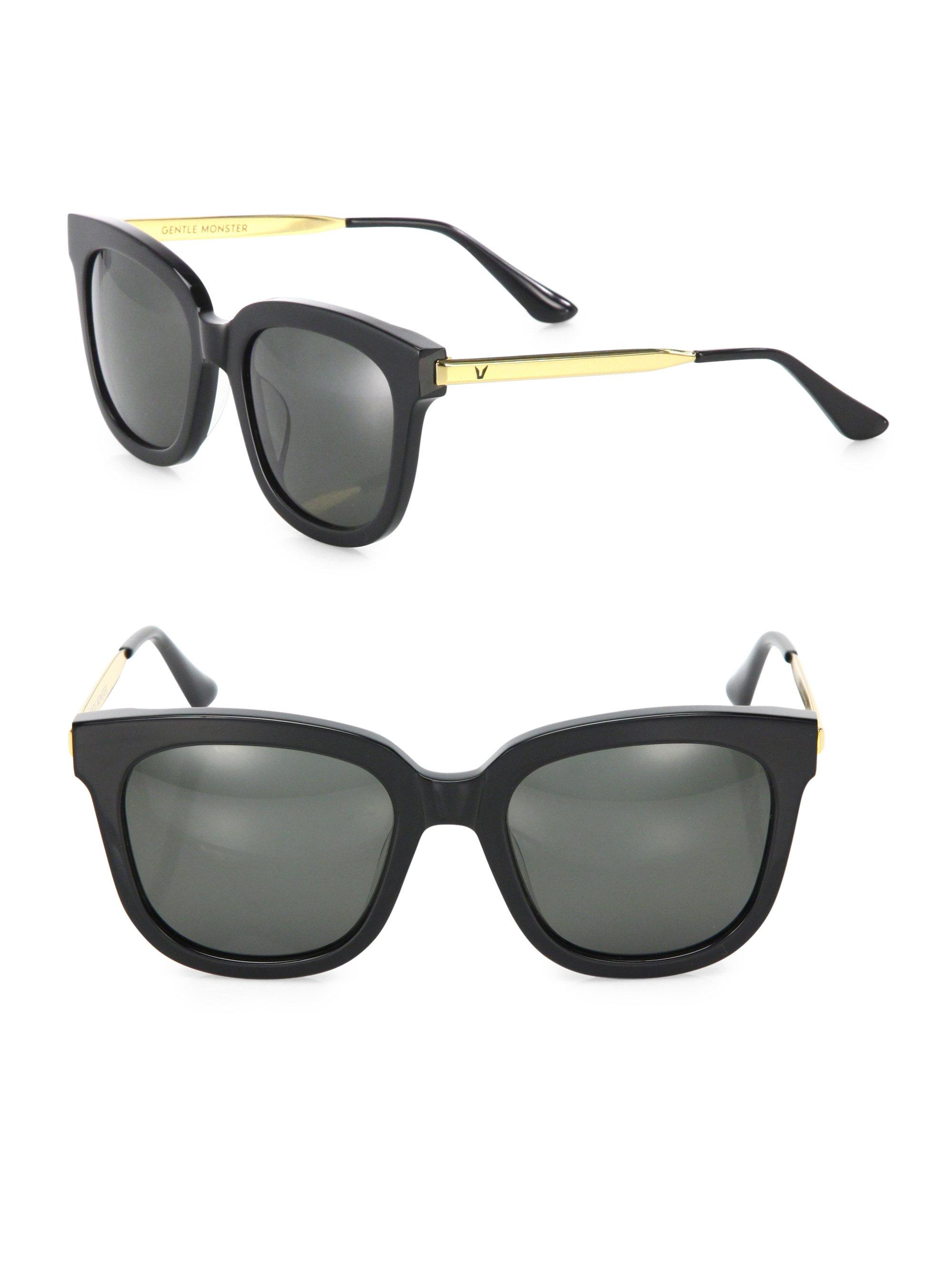 94e21c24ee4f Lyst - Gentle Monster Absente 52mm Square Sunglasses in Black