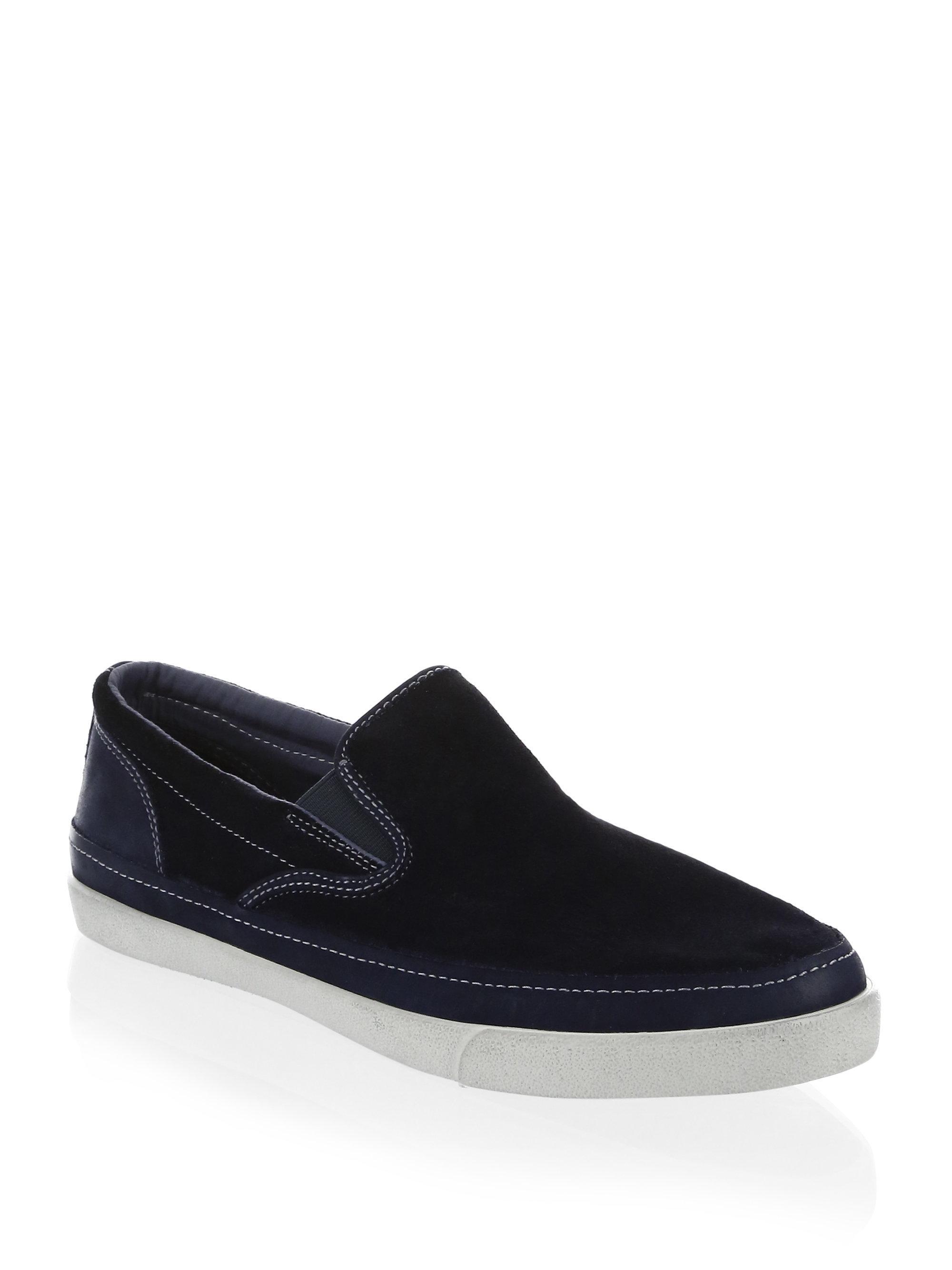 John Varvatos Men's Jet Suede Slip-On Sneakers 4X6kn