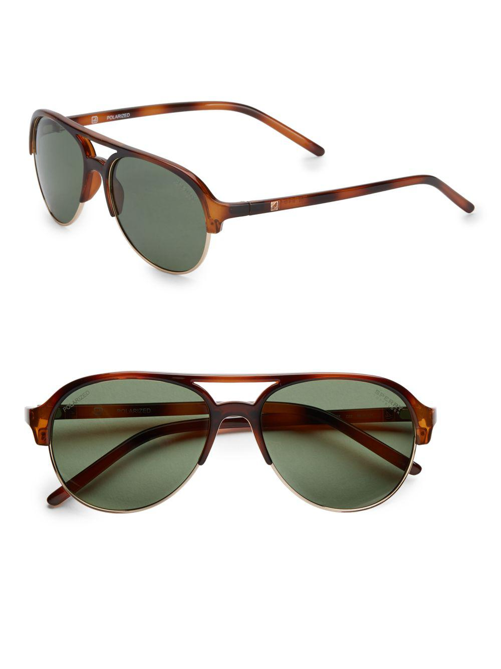 756cbb8a63 Lyst - Sperry Top-Sider Sussex Oval Sunglasses in Green for Men