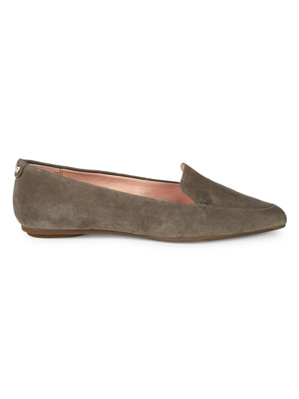 0dc6df2184d Taryn Rose Faye Suede Loafers in Gray - Save 50% - Lyst