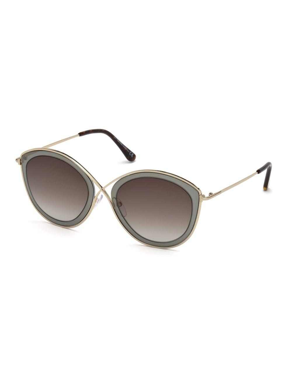 e0dc6e5dd8bb Tom Ford Sascha 55mm Butterfly Sunglasses in Gray - Lyst