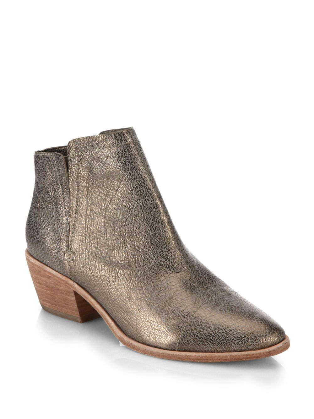 Metallic Leather Boots : Joie jodi metallic leather ankle boots lyst