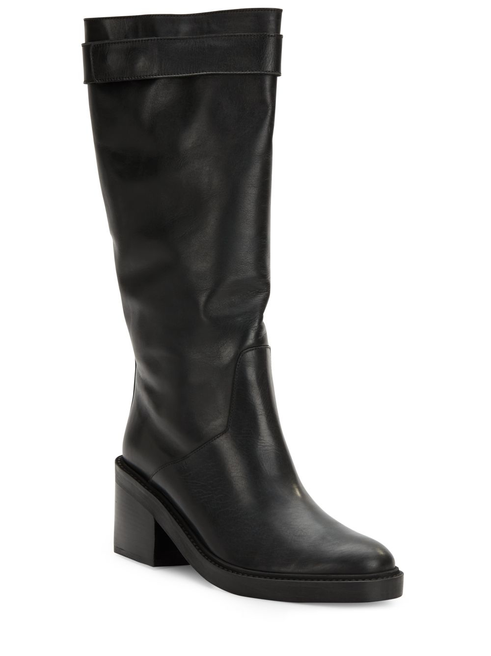 helmut lang slouchy leather boots in black lyst