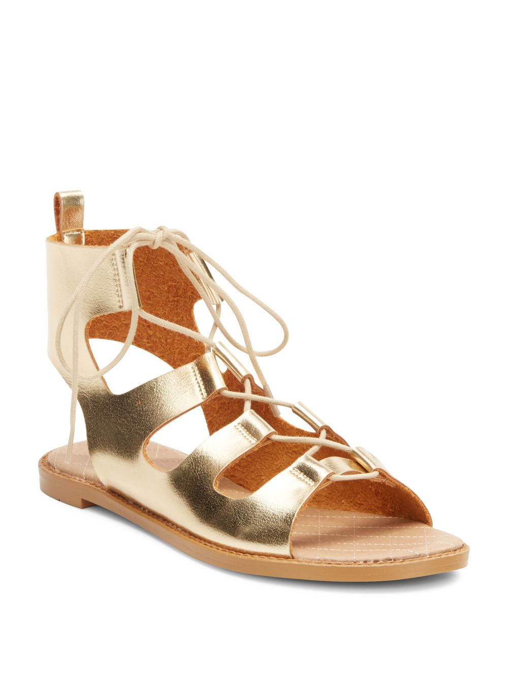 Lyst Chinese Laundry Guess Who Metallic Lace Up Sandals