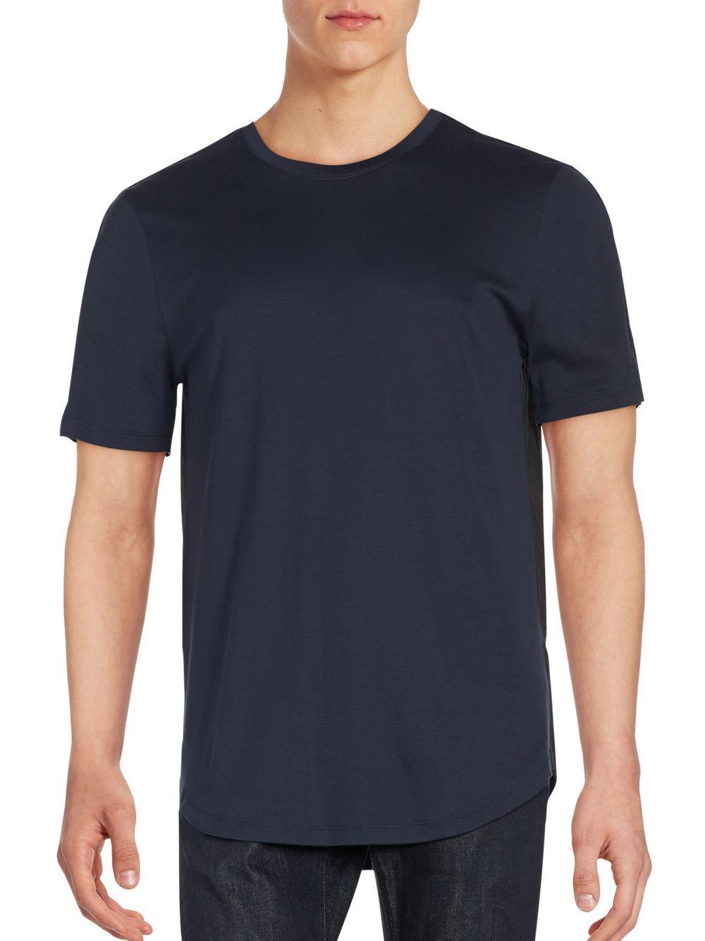 Helmut lang short sleeve roundneck t shirt in blue for men for Helmut lang tee shirts