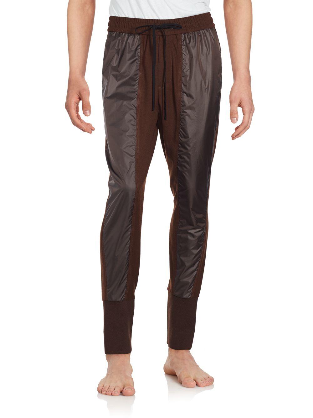 3.1 phillip lim Contrast Inset Drawstring Pants for Men