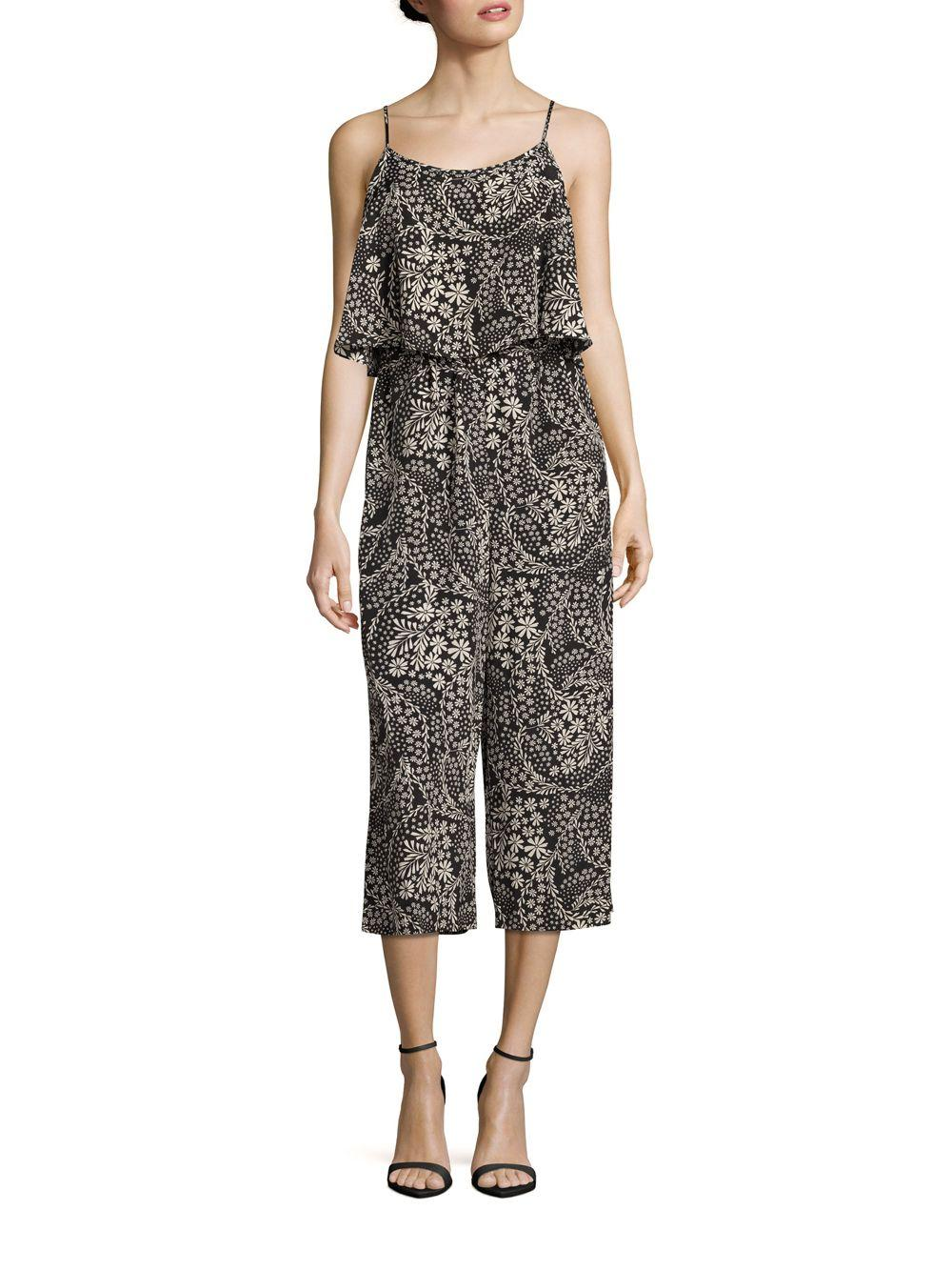 c69cd4e346b Lyst - Cece By Cynthia Steffe Caris Floral Printed Popover Jumpsuit ...