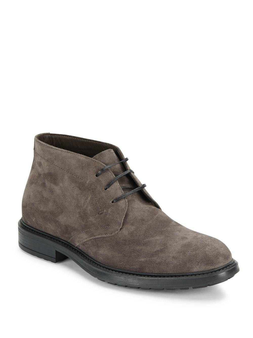 a testoni soft suede ankle boots for lyst
