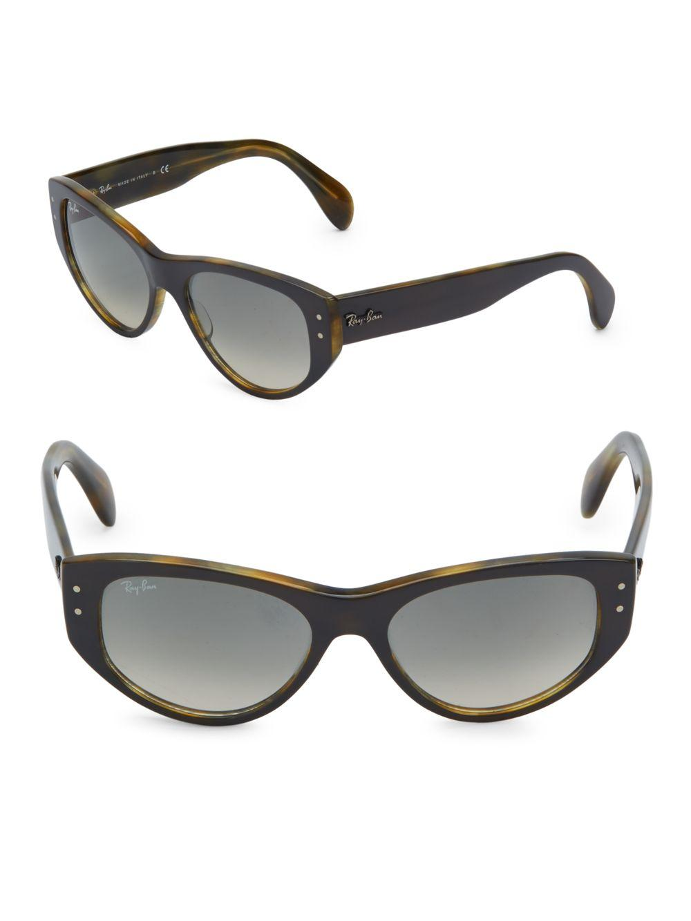 af4c527b702 Ray-Ban Vagabond Logo Temple Sunglasses in Gray - Lyst