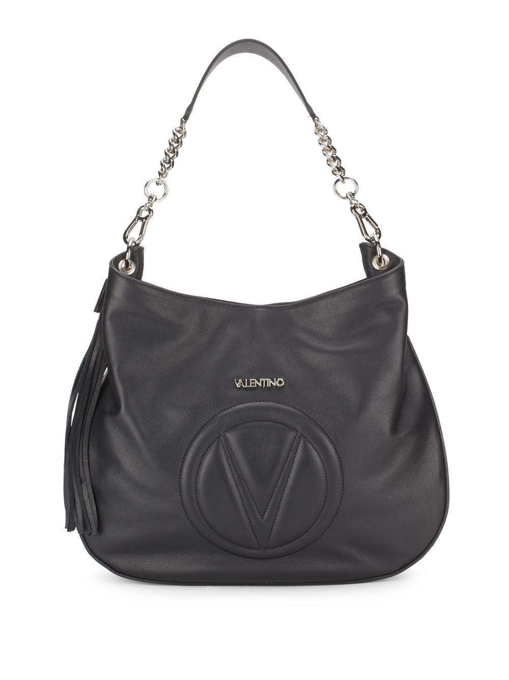 Valentino By Mario Valentino Penny Leather Shoulder Bag In