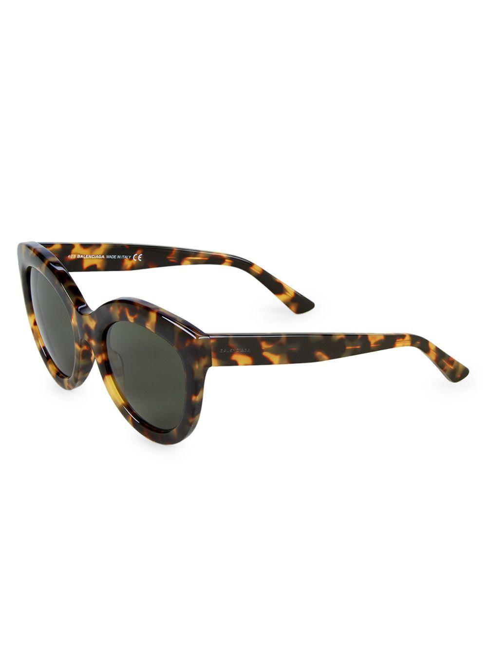 b14786347c Lyst - Balenciaga 54mm Cat Eye Sunglasses in Brown
