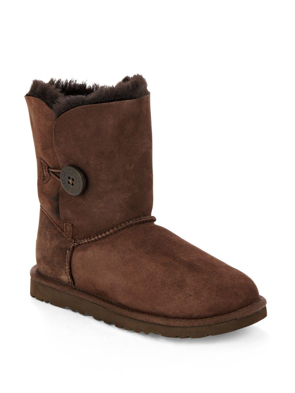 ugg bailey shearling lined leather suede ankle boots in