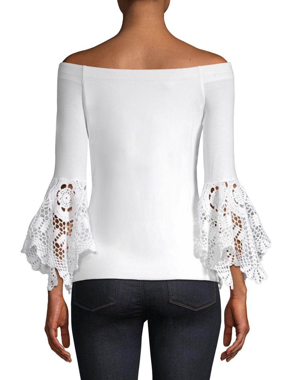 a8173c3a150b5 Bailey 44 Bell-sleeve Off-the-shoulder Top in White - Save 21% - Lyst