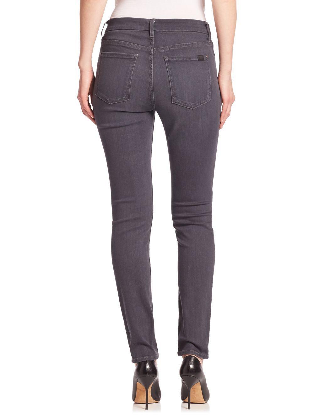 7 For All Mankind Denim Skinny Grey Jeans in Grey