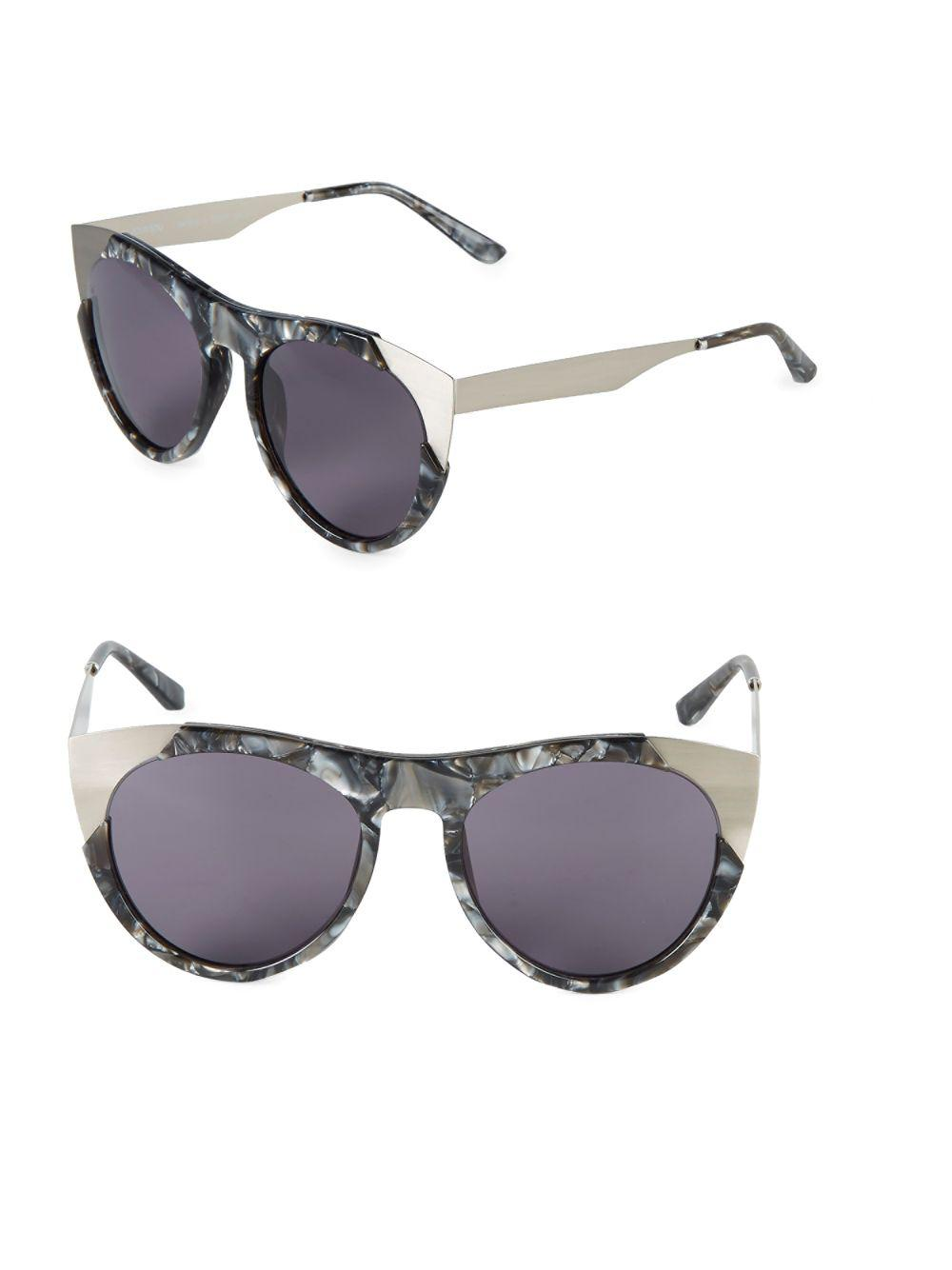 e4a9ad37d05 Lyst - Smoke X Mirrors 53mm Butterfly Sunglasses in Gray