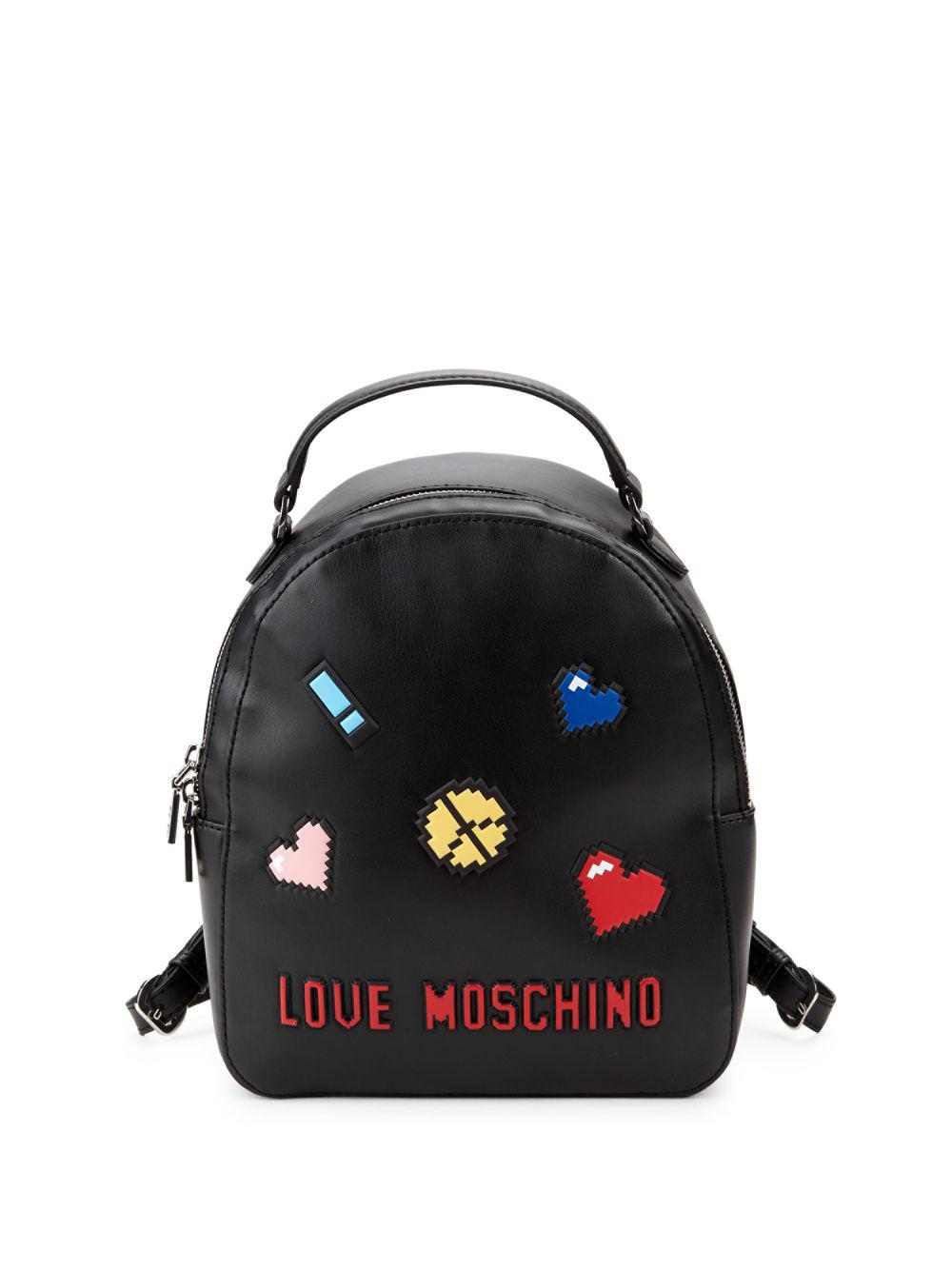 87cfdcdfa3d9e Love Moschino - Black Logo Faux Leather Backpack - Lyst. View fullscreen