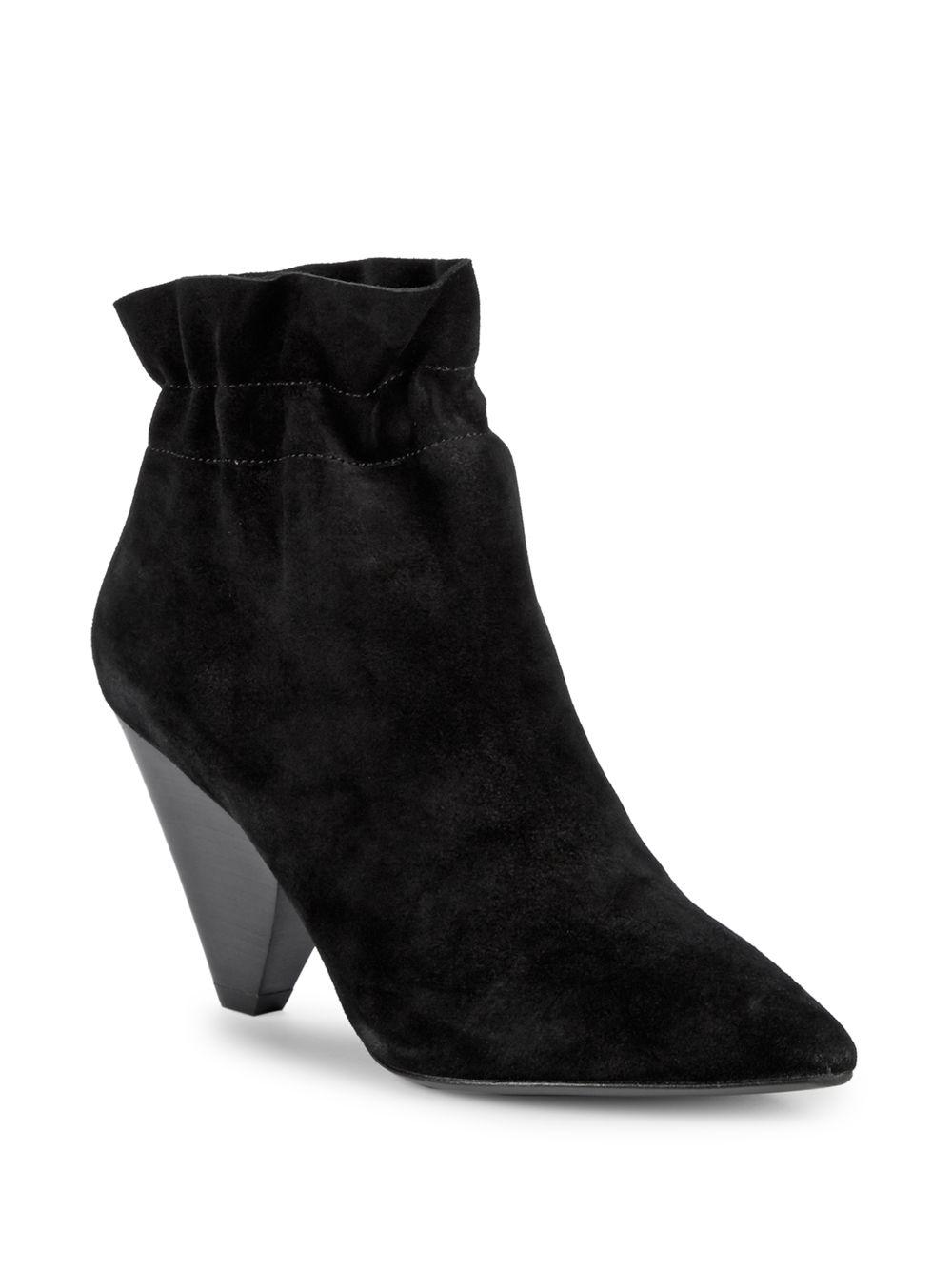 7fa92c2c7a1b6 Lyst - Ash Slip-on Suede Booties in Black
