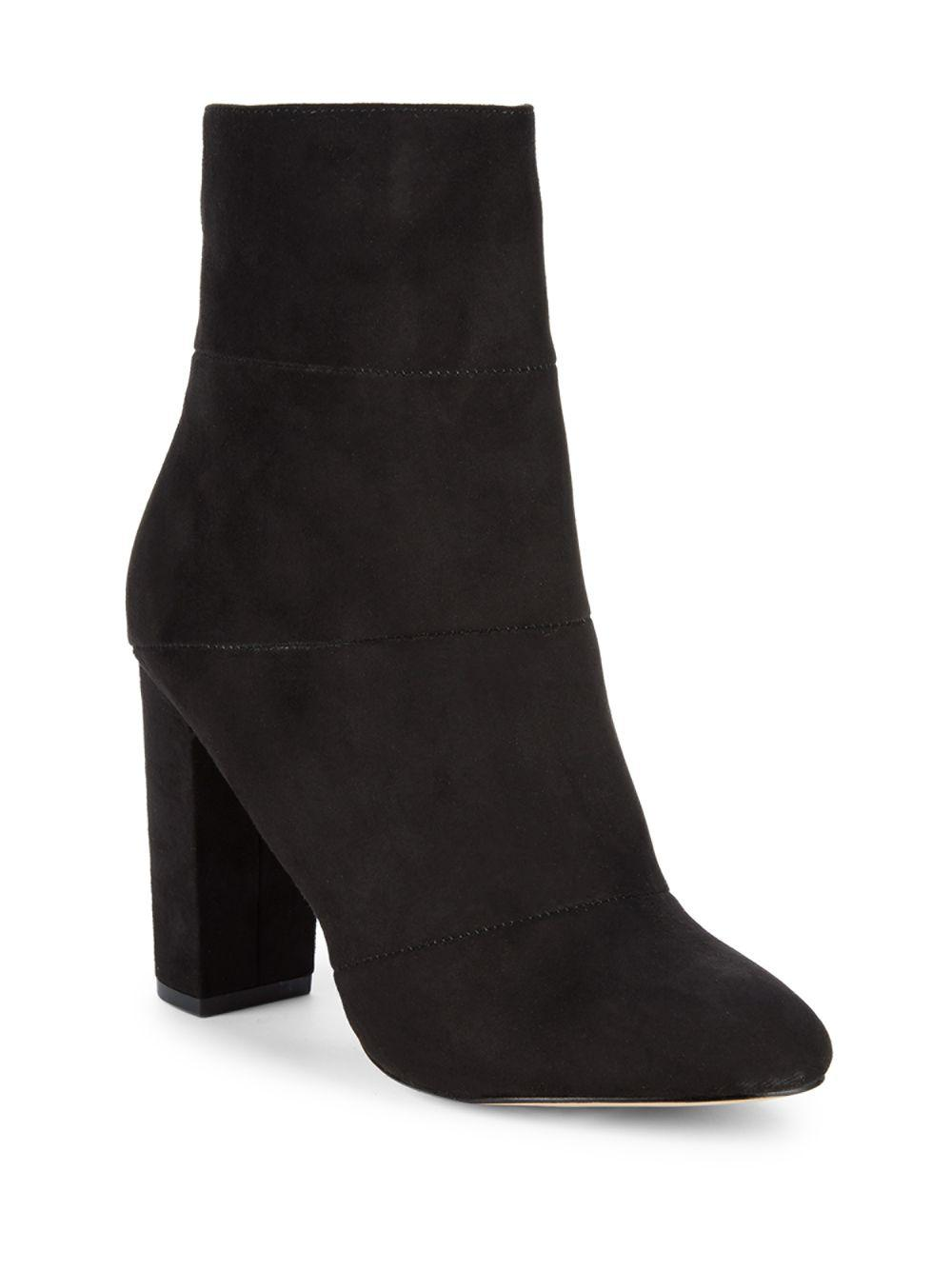 5e19e4a7193b Lyst - BCBGeneration Coral Microsuede Ankle Booties in Black