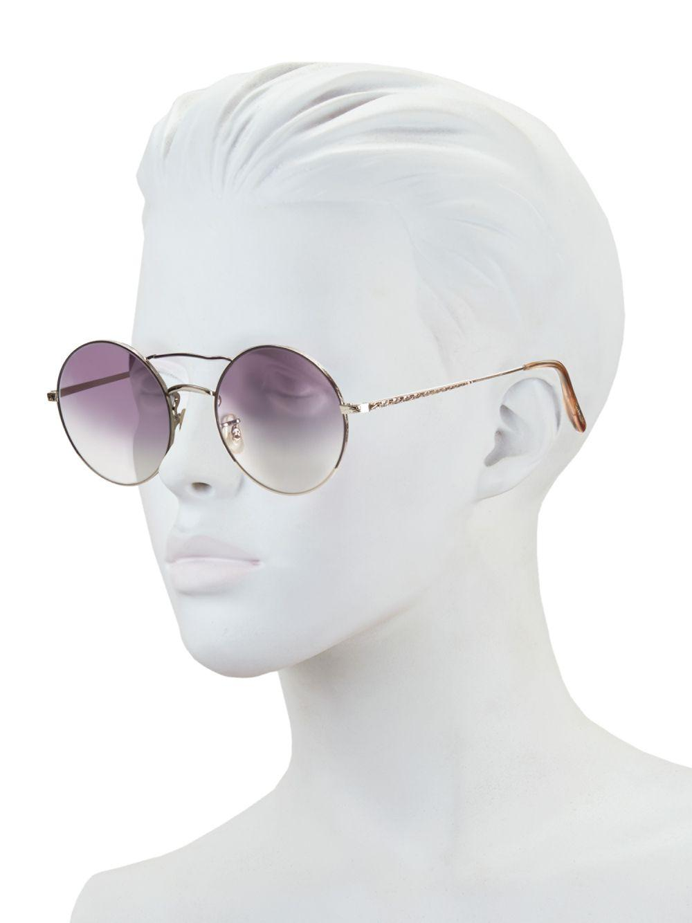 f5a5bca13e5 Oliver Peoples - Purple Nickol 53mm Round Sunglasses - Lyst. View fullscreen