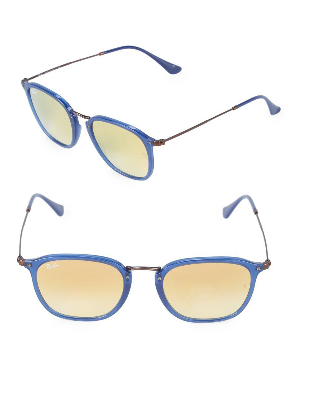 987fc8248d Ray-Ban 51mm Square Sunglasses in Blue - Lyst
