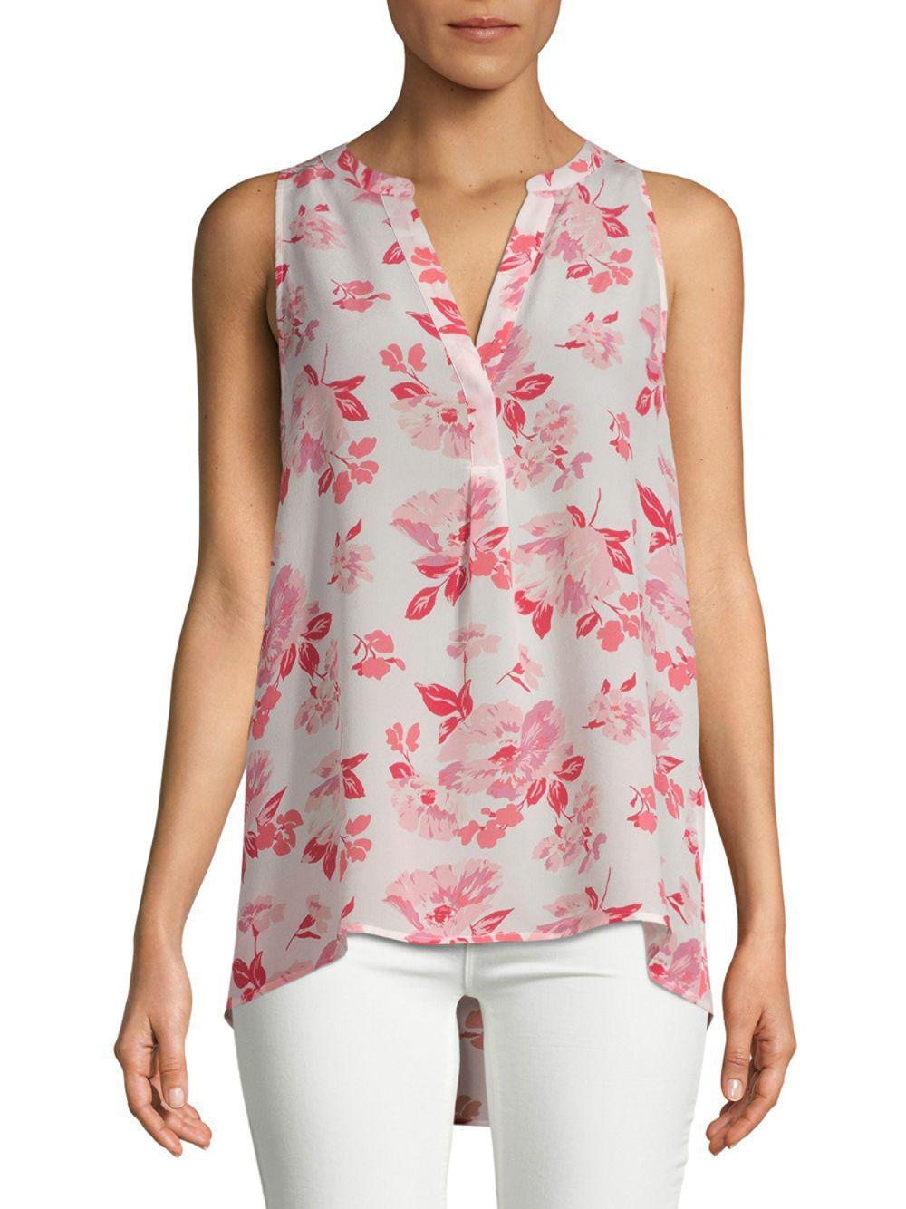 7e1c820fc71d9a Lyst - Joie Aruna Silk Blouse in Pink