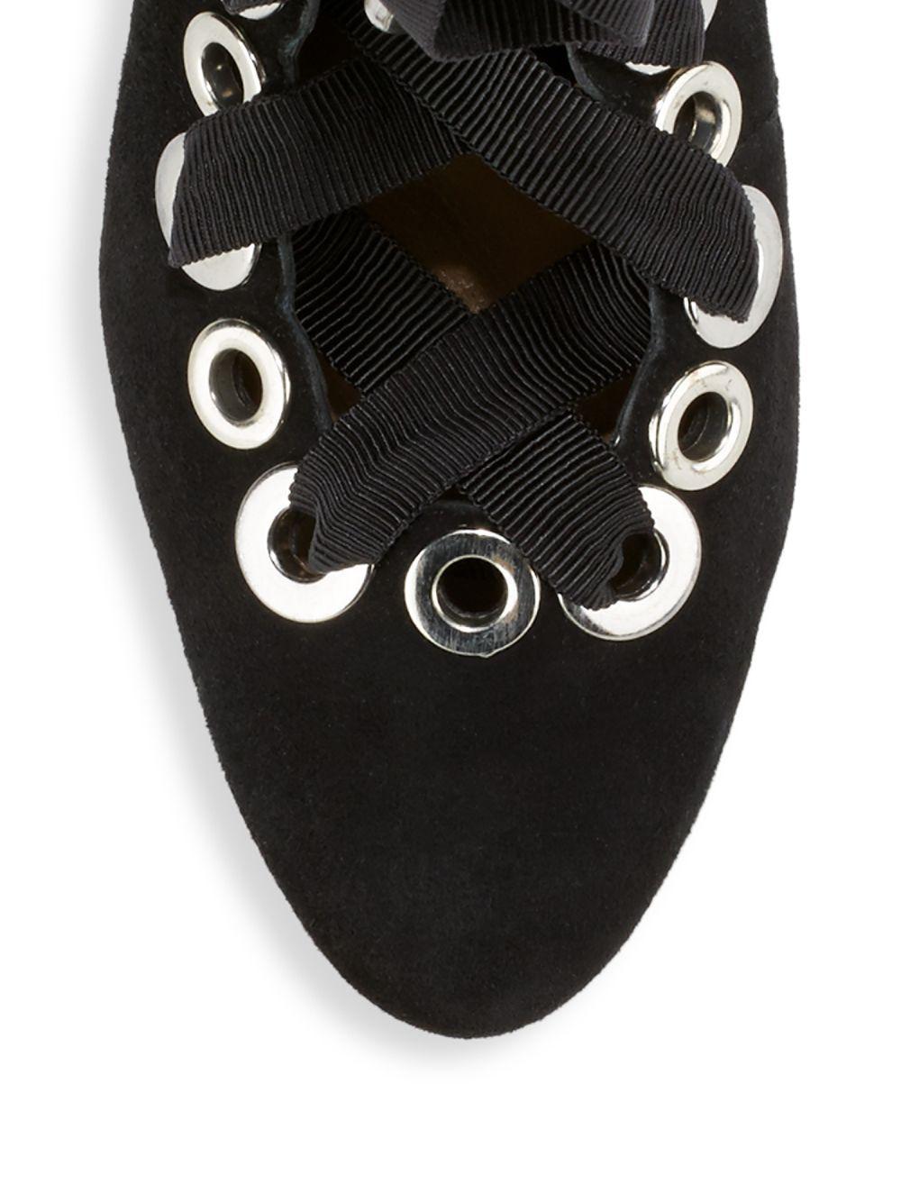 Schutz Fionna Suede Boots in Black
