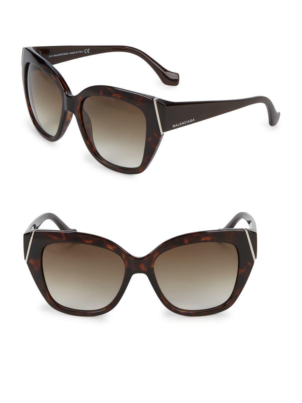 d58ad4b9f4e Balenciaga - Brown Injected Tortoiseshell 57mm Square Sunglasses - Lyst.  View fullscreen