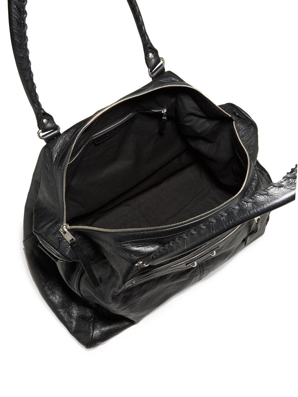 Balenciaga Black Arena Leather Weekender Bag Lyst View Fullscreen