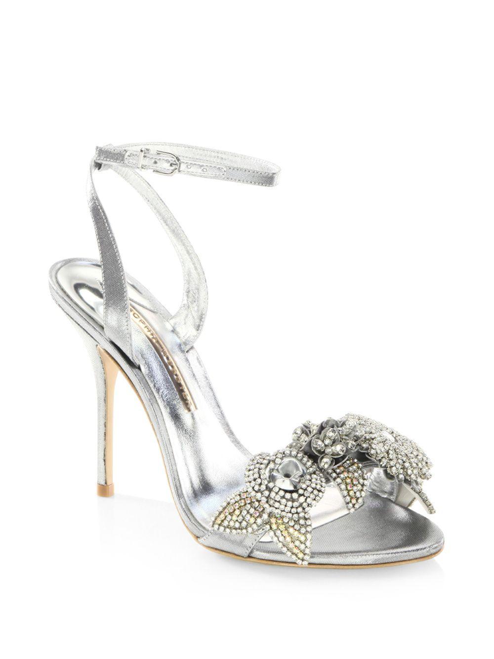 33c552dd1d0d Sophia Webster. Women s Lilico Crystal-embellished Metallic Ankle-strap  Sandals