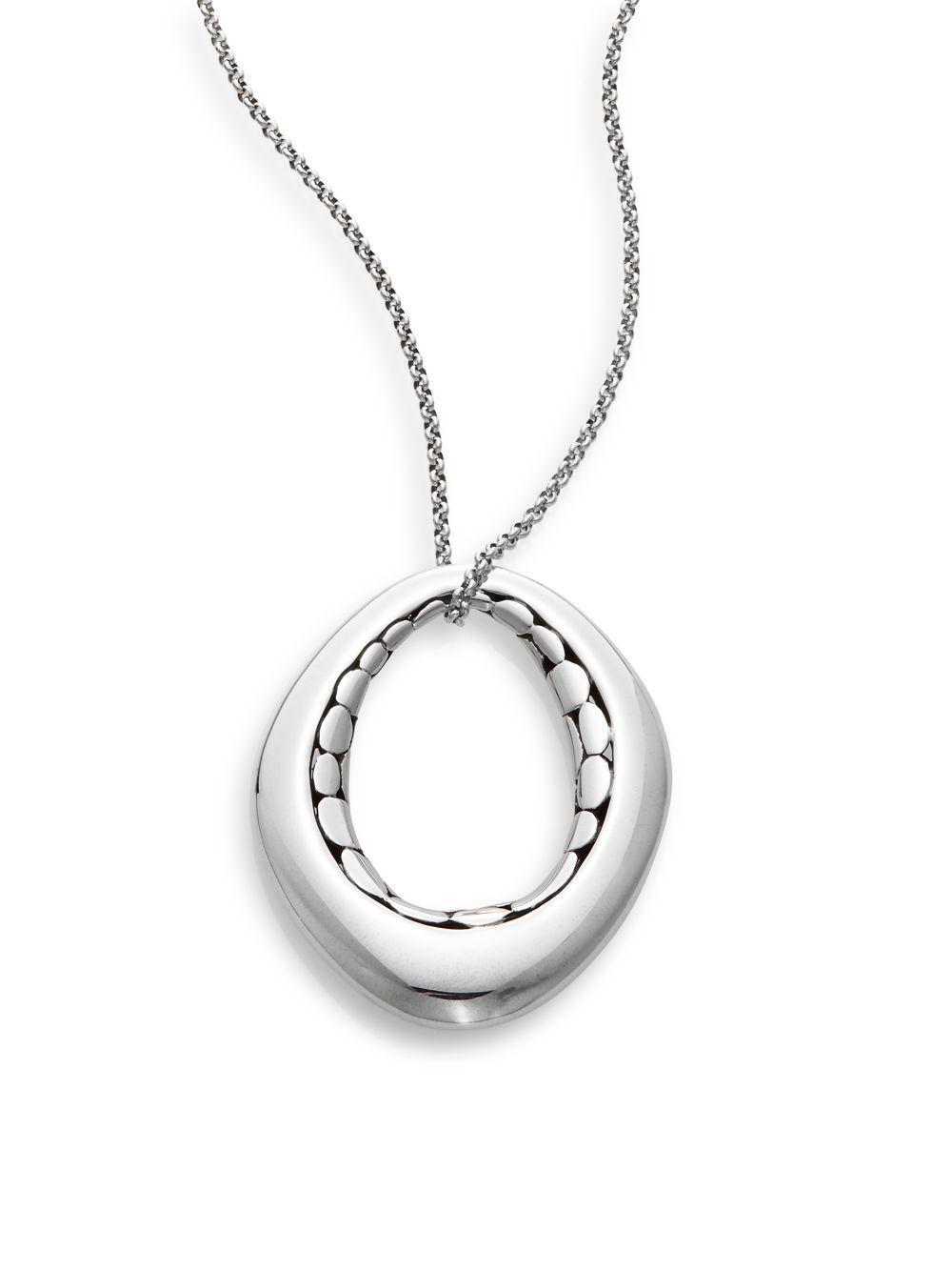 John Hardy Dot Tube Enhancer Chain Necklace 2og5nLtPF9