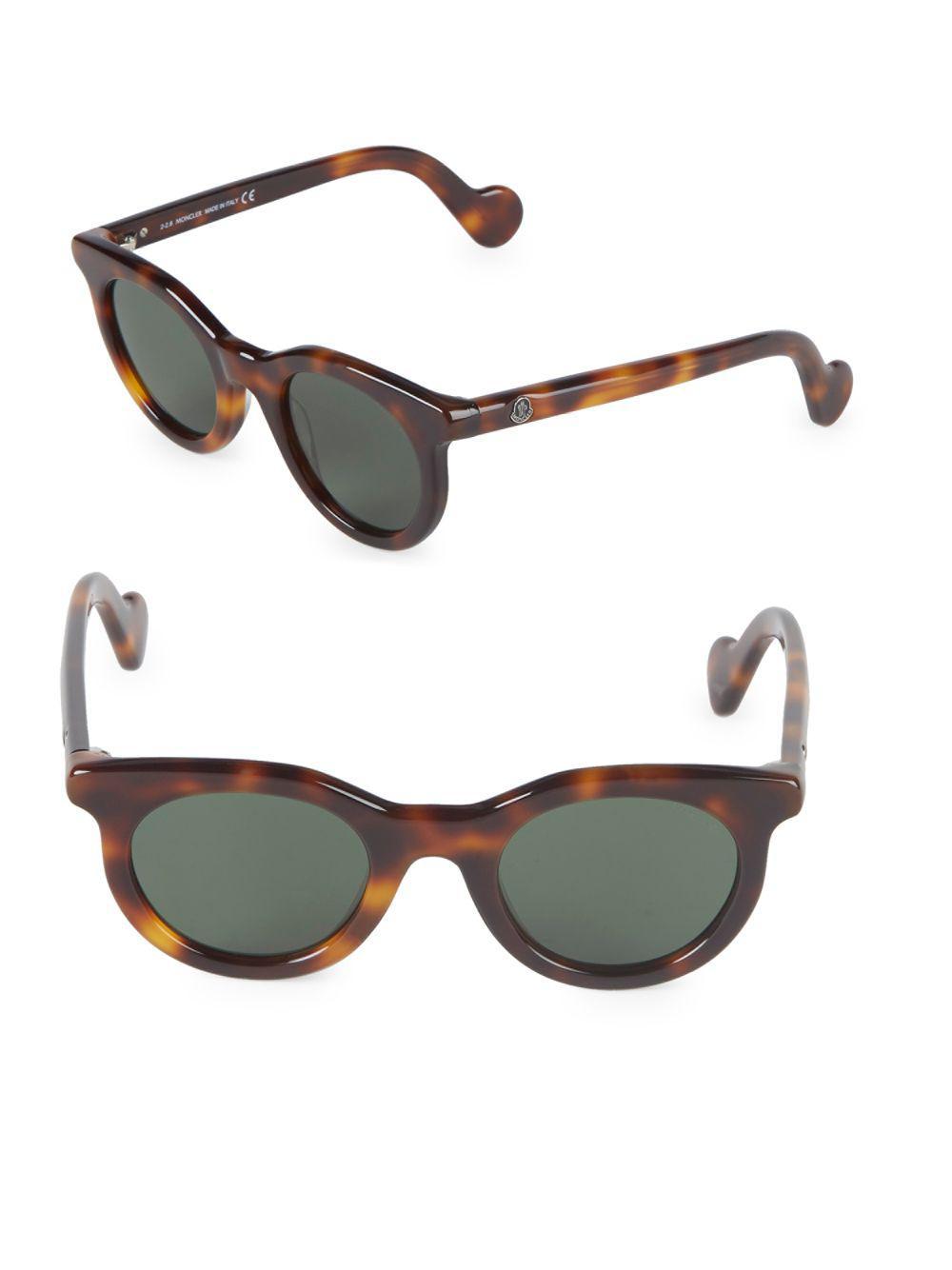 3fa149e50ec Moncler 47mm Cat-eye Sunglasses in Brown - Lyst