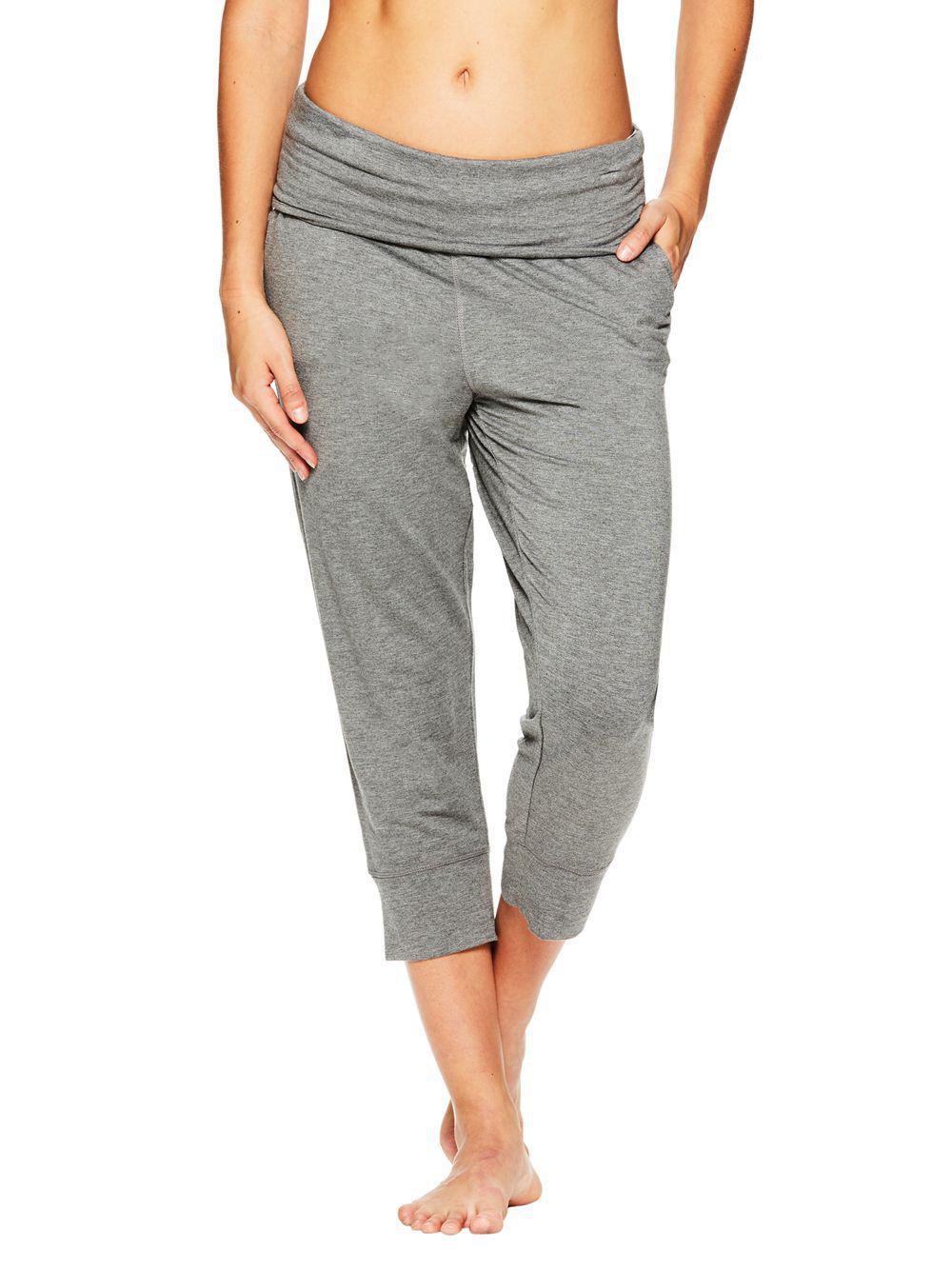 a43800f7100a4 Lyst - Gaiam Piper Crop Harem Sweatpants in Gray