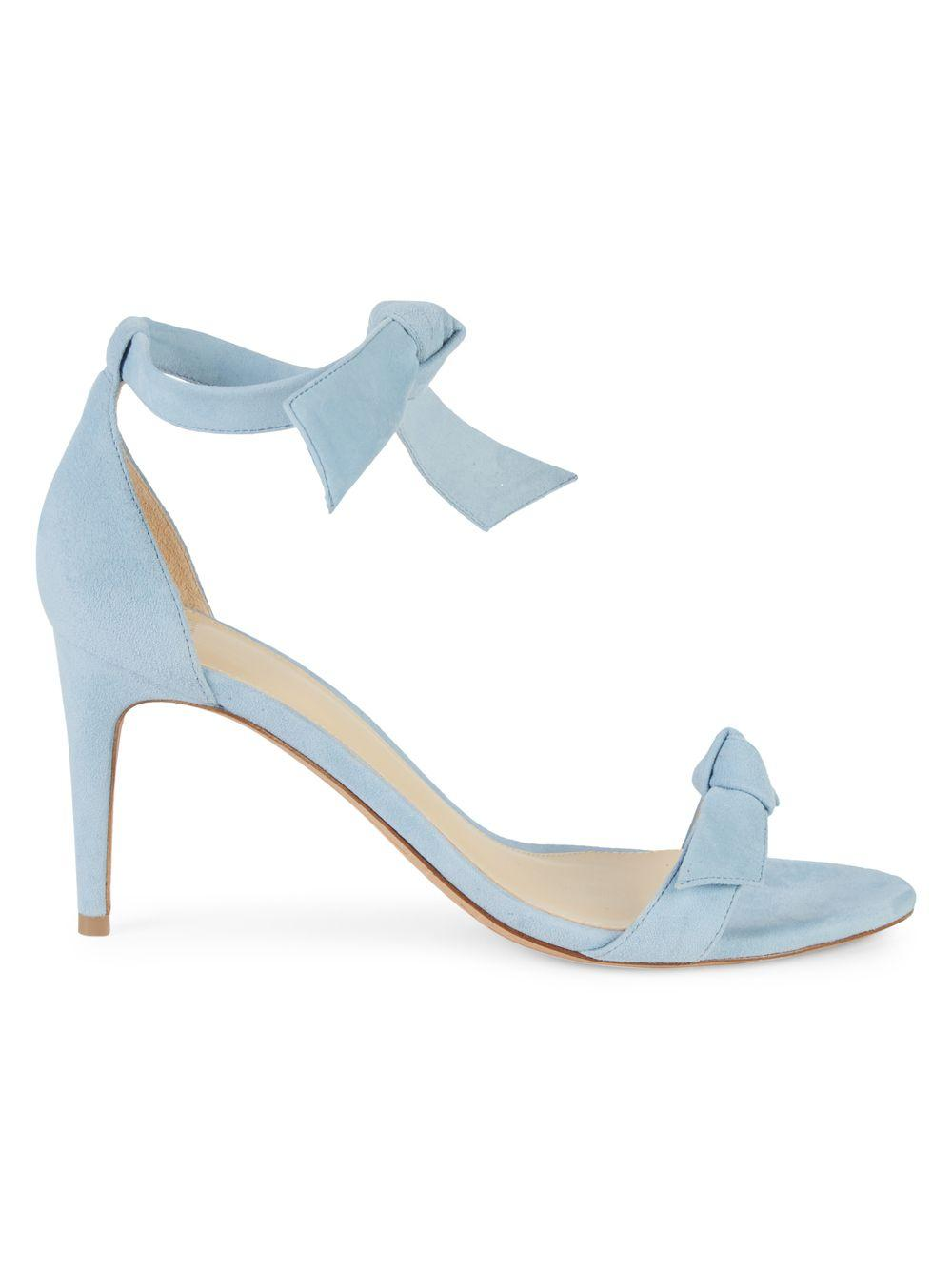 42171749e4b Lyst - Alexandre Birman Clarita Suede Tie Sandals in Blue