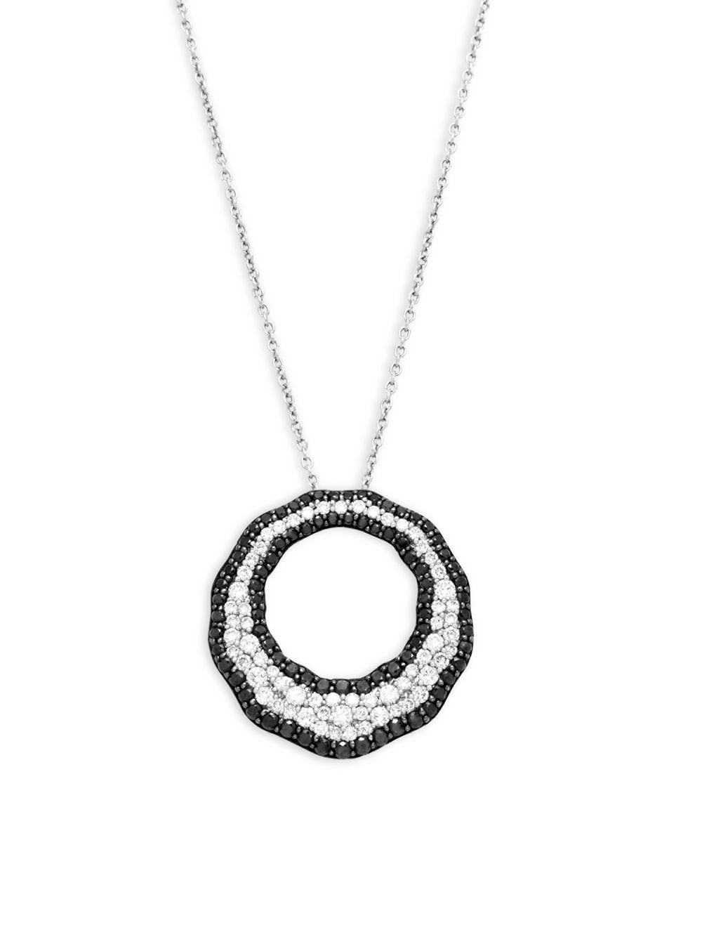 Roberto Coin Scalare Two-Tone Diamond Pendant Necklace rmcGNomom