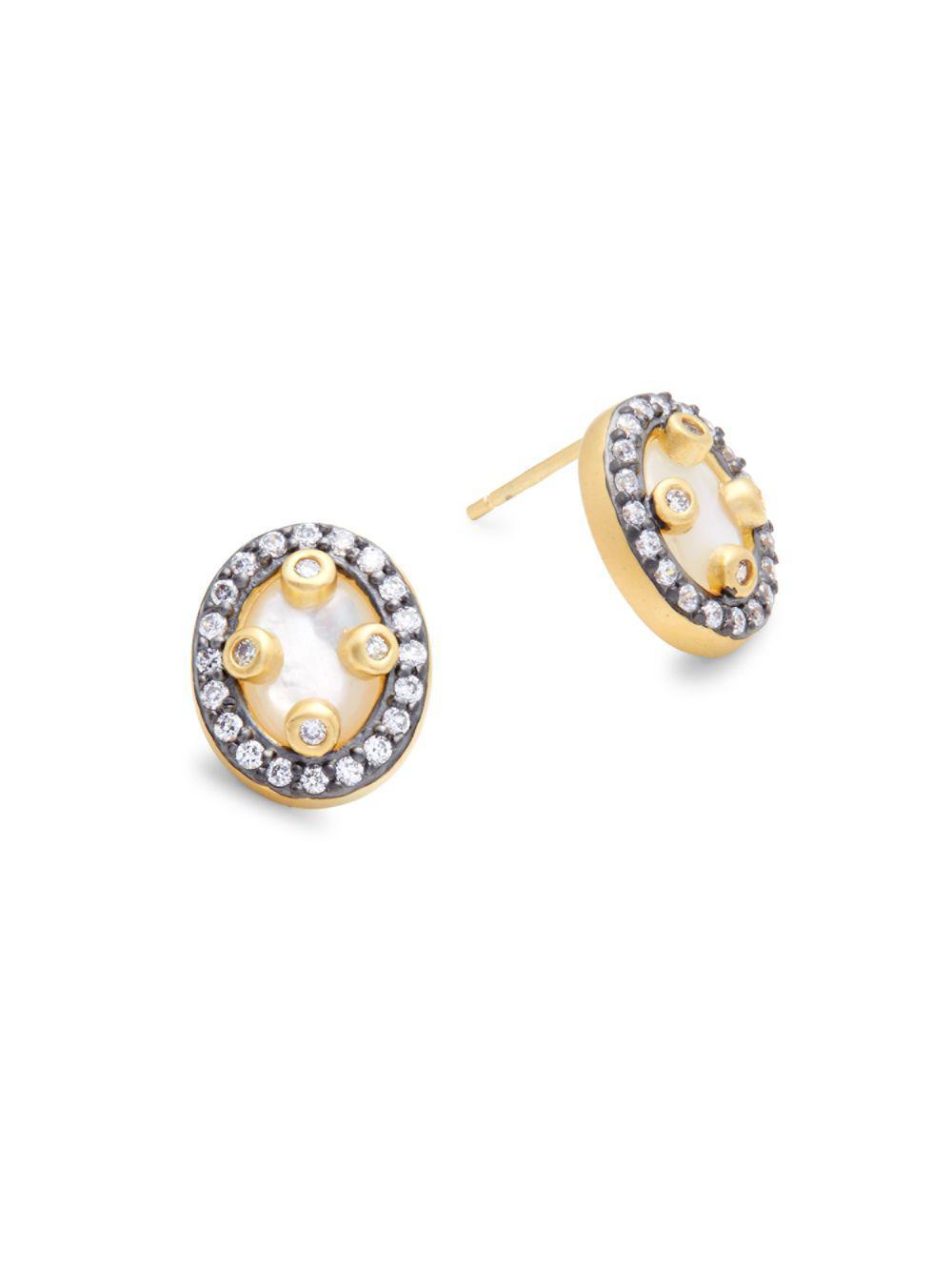 Freida Rothman Mother-of-Pearl Teardrop Earrings 0hKKNJ