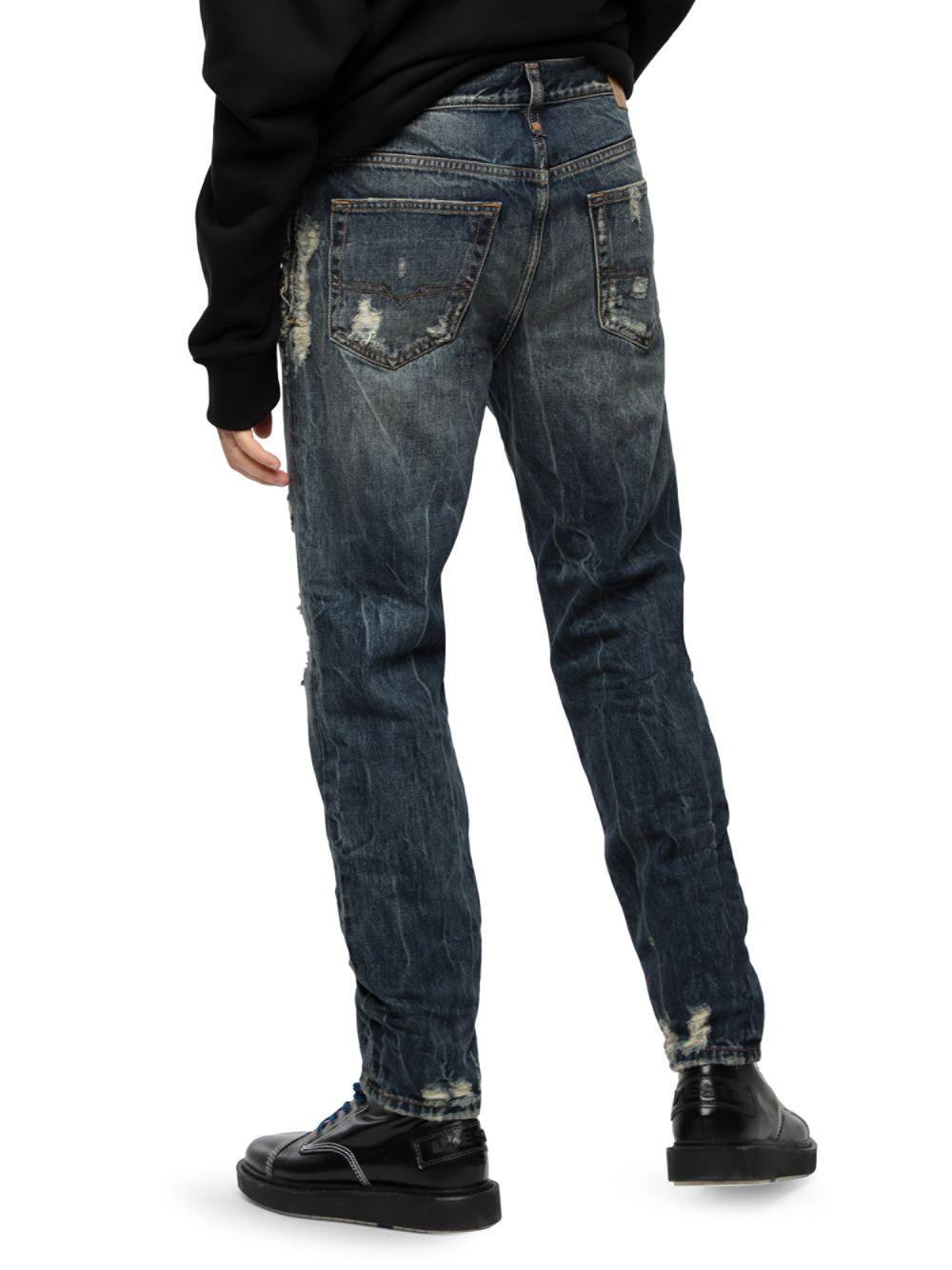 6aec3307 DIESEL Mharky Slim-fit Jeans in Blue for Men - Lyst