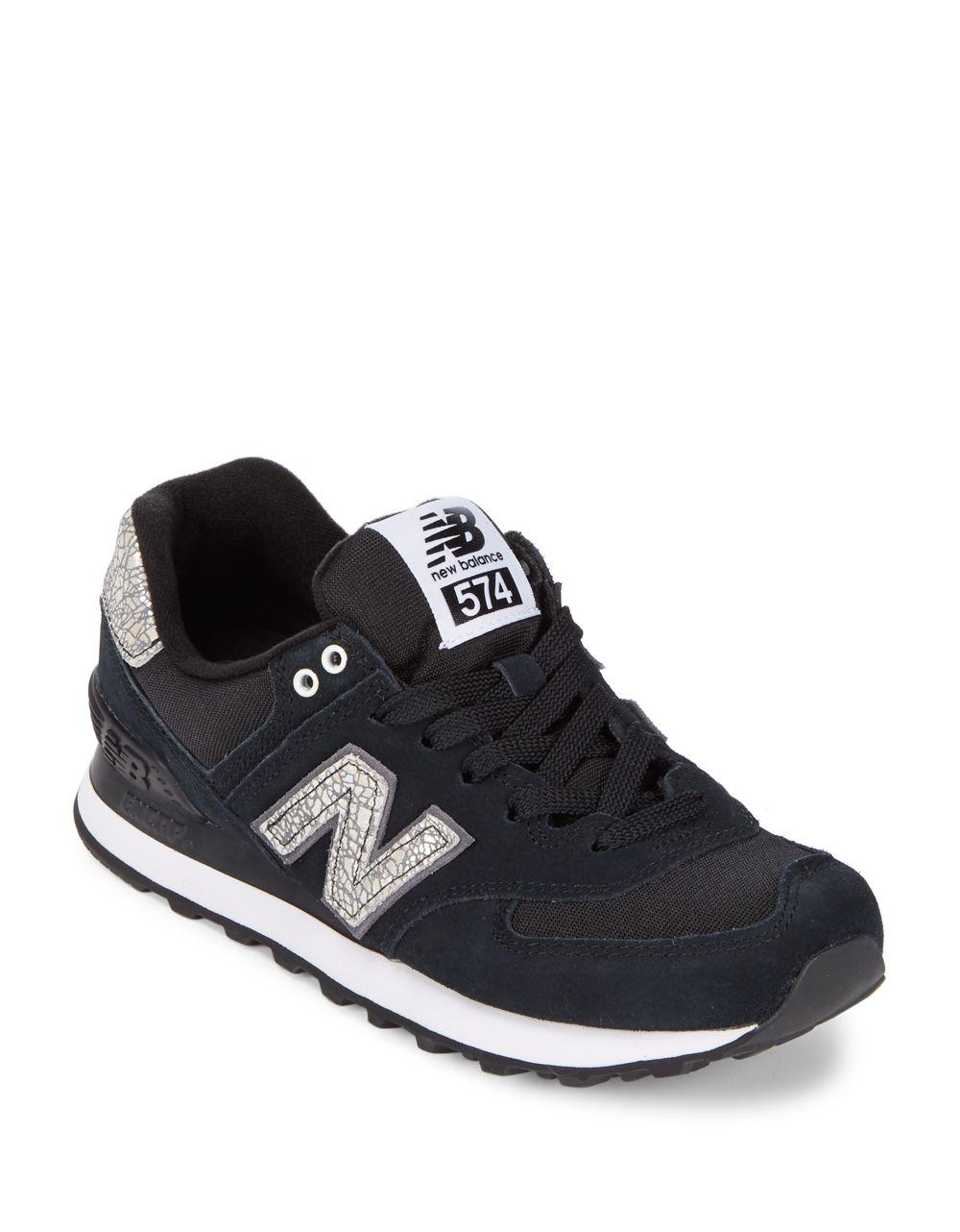 4210516795789 New Balance - Black 574 Suede Athletic Sneakers for Men - Lyst. View  fullscreen